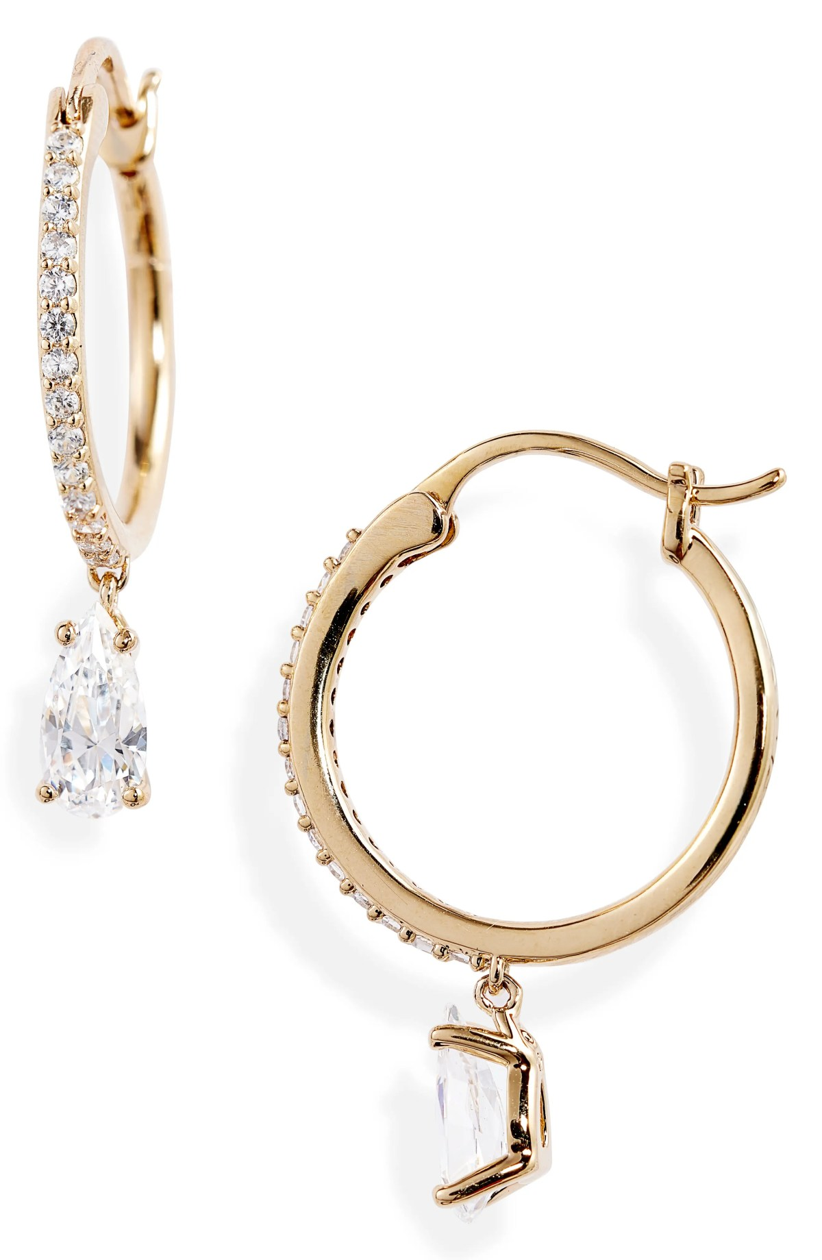 NADRI First Kiss Small Hoop Earrings, Main, color, GOLD