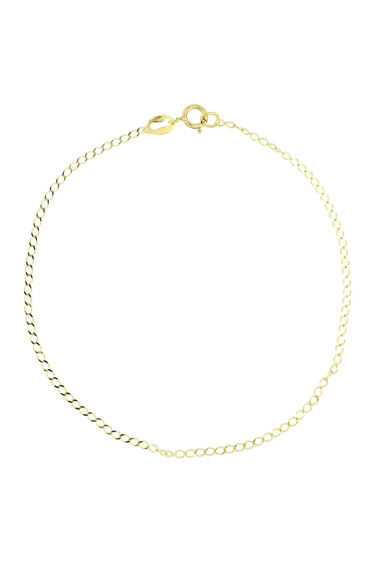 bony levy 14k yellow gold 7 shiny flat chain bracelet nordstrom rack