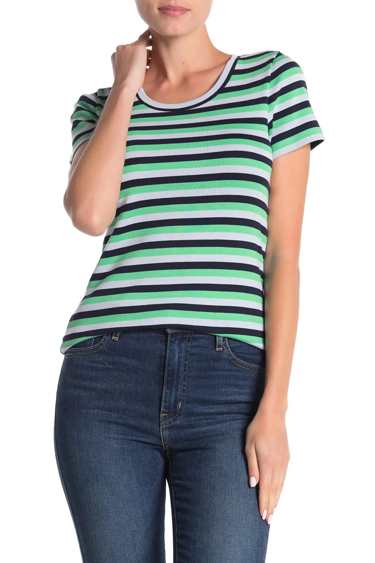 J Crew Perfect Fit Tee : perfect, Striped, Perfect, T-Shirt, Nordstrom