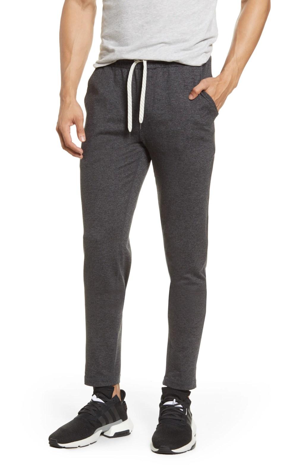 Men's Vuori Ponto Pocket Performance Pants, Size Large - Grey