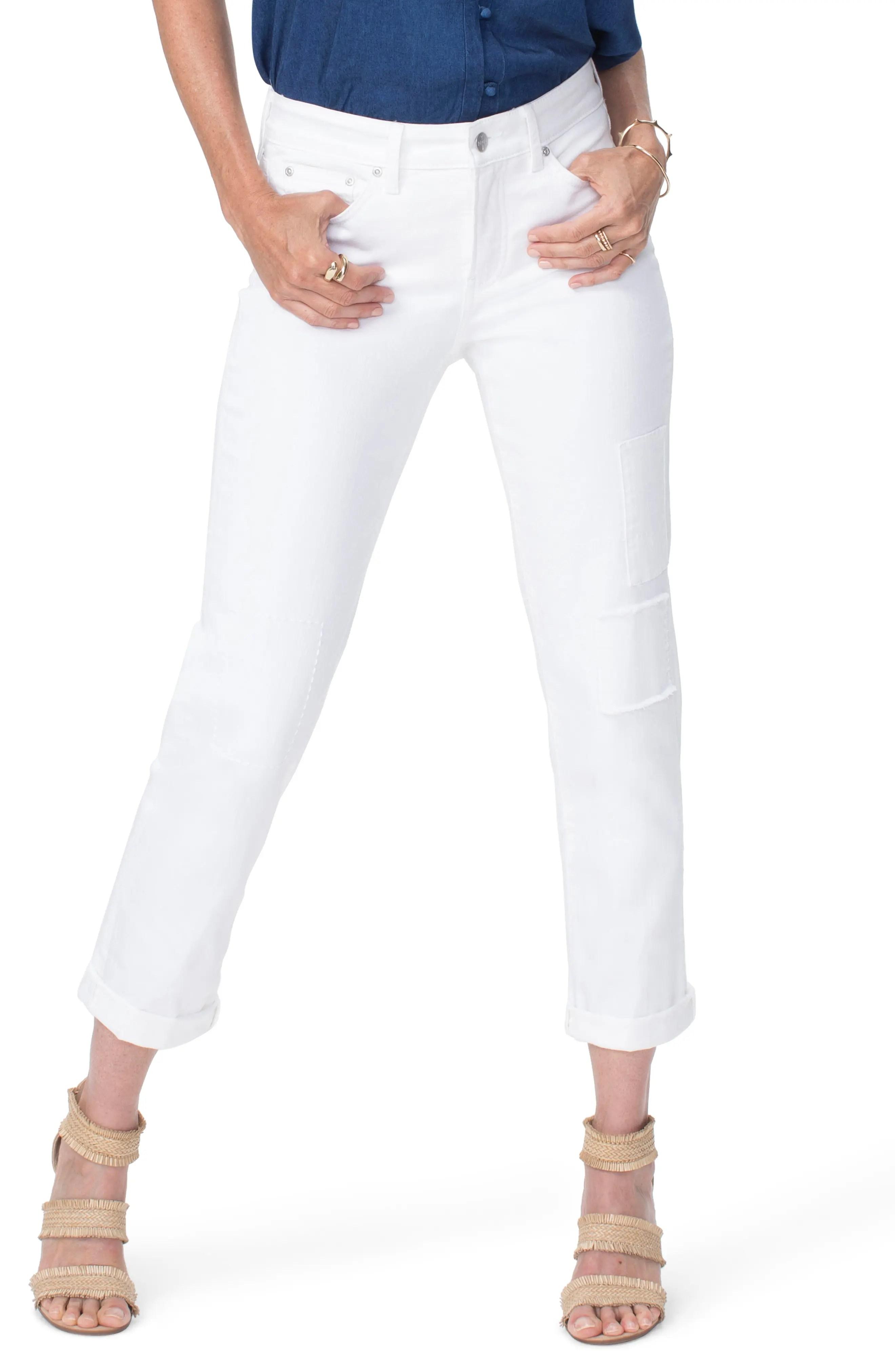 nydj high waist patchwork boyfriend jeans nordstrom rack