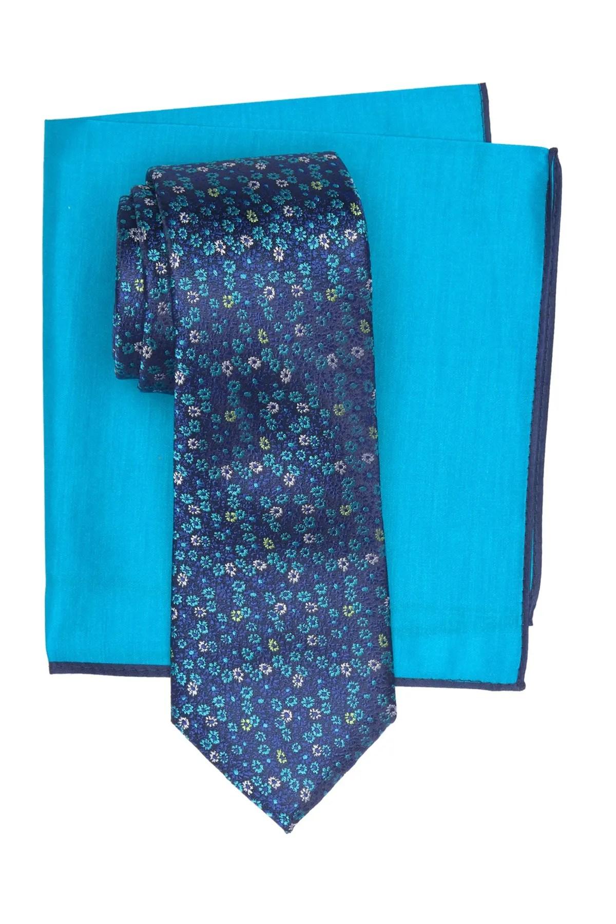 ted baker london micro flower tie pocket square set nordstrom rack