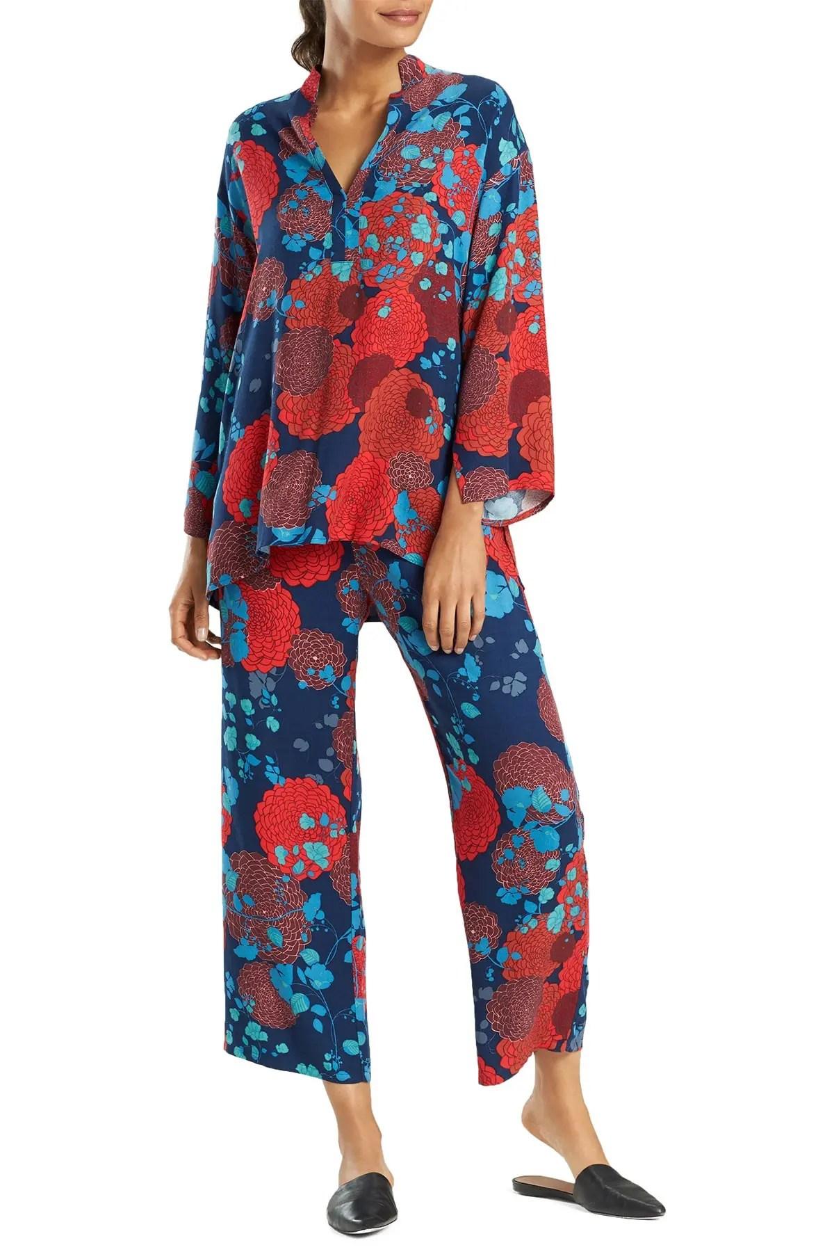 n natori floral print 2 piece pajama set nordstrom rack