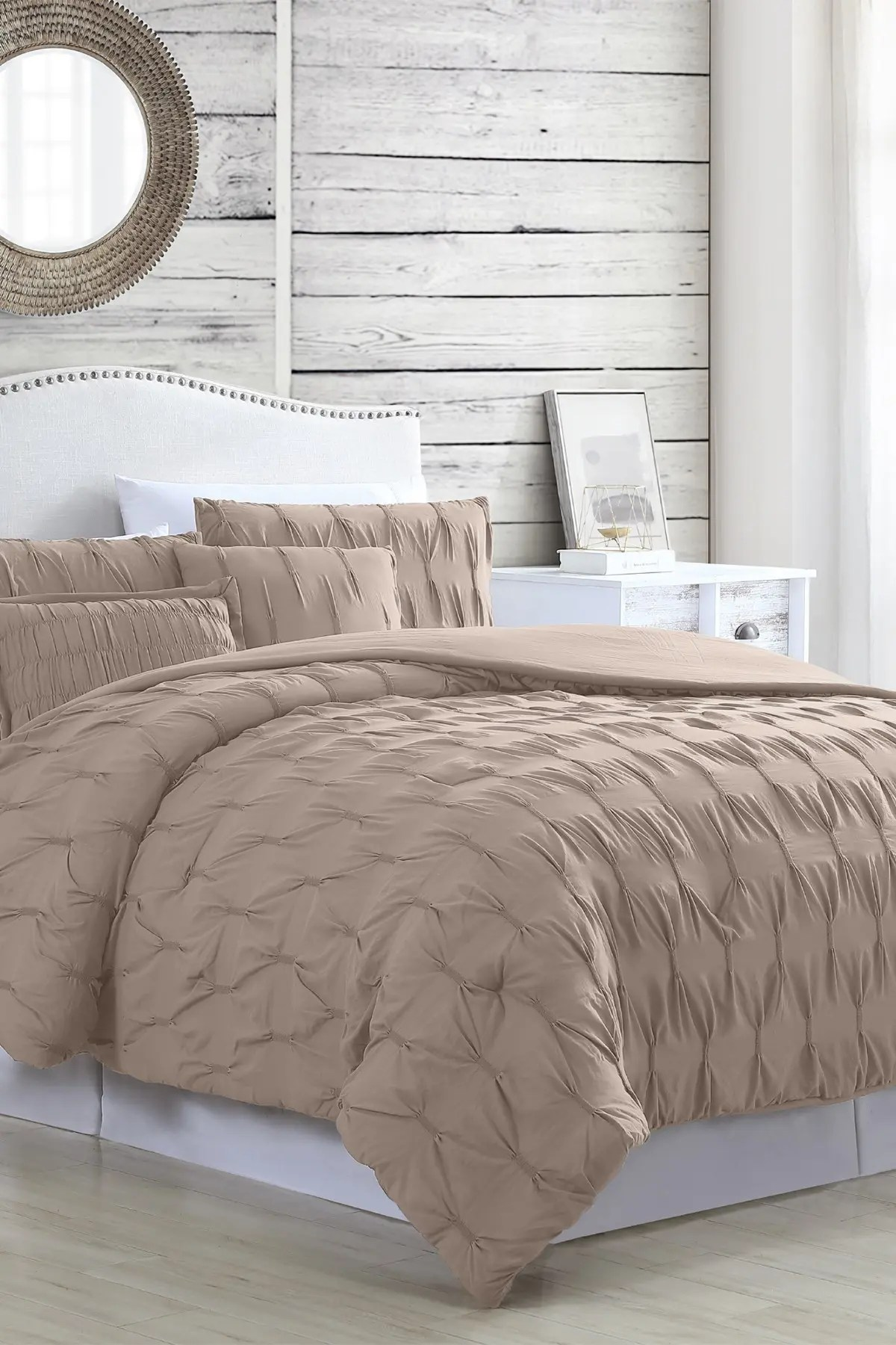 modern threads 5 piece textured comforter set harper taupe king nordstrom rack