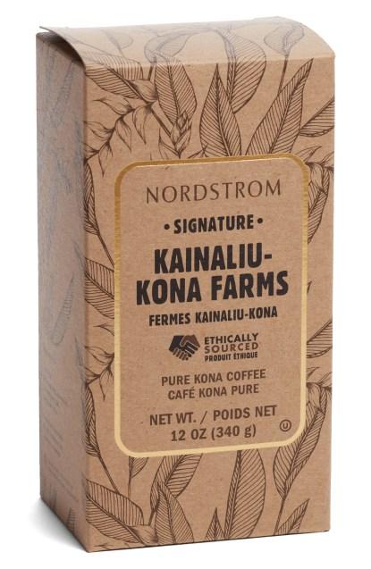 Nordstrom Signature Kainaliu Kona Farms 100% Kona Whole Bean Coffee, $29.90