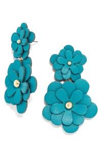 BaubleBar 'Zoe' Leather Flower Drop Earrings | Nordstrom