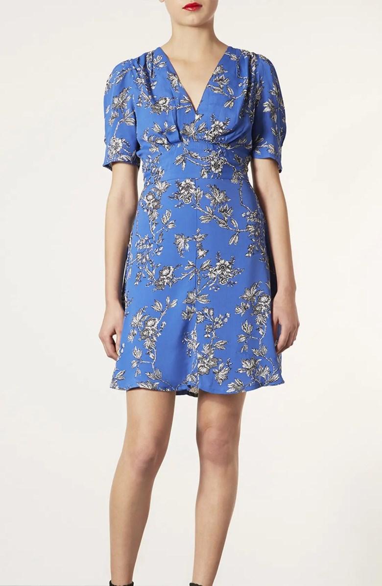 Topshop Floral Branch Tea Dress | Nordstrom