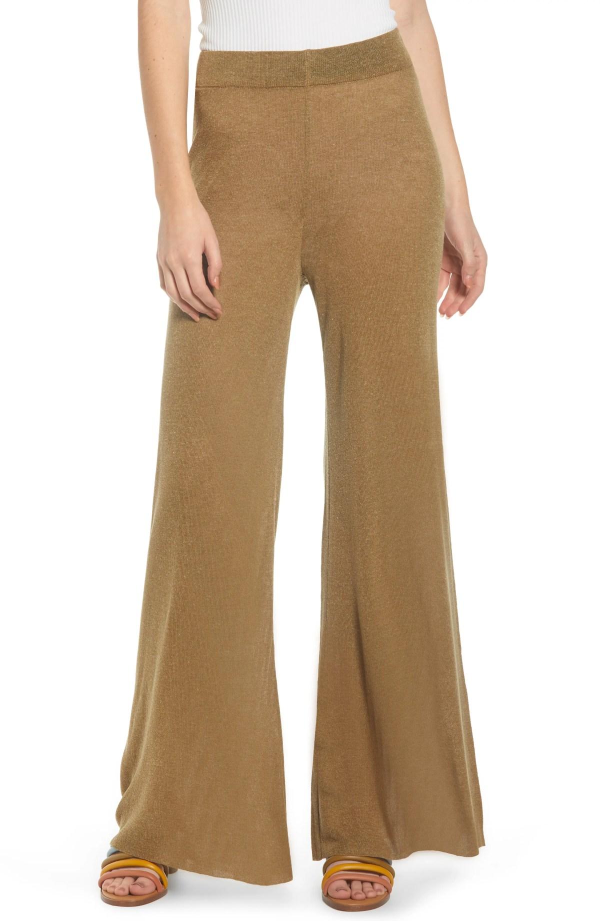 NOISY MAY Soren Knit Pants, Main, color, OLIVE DRAB
