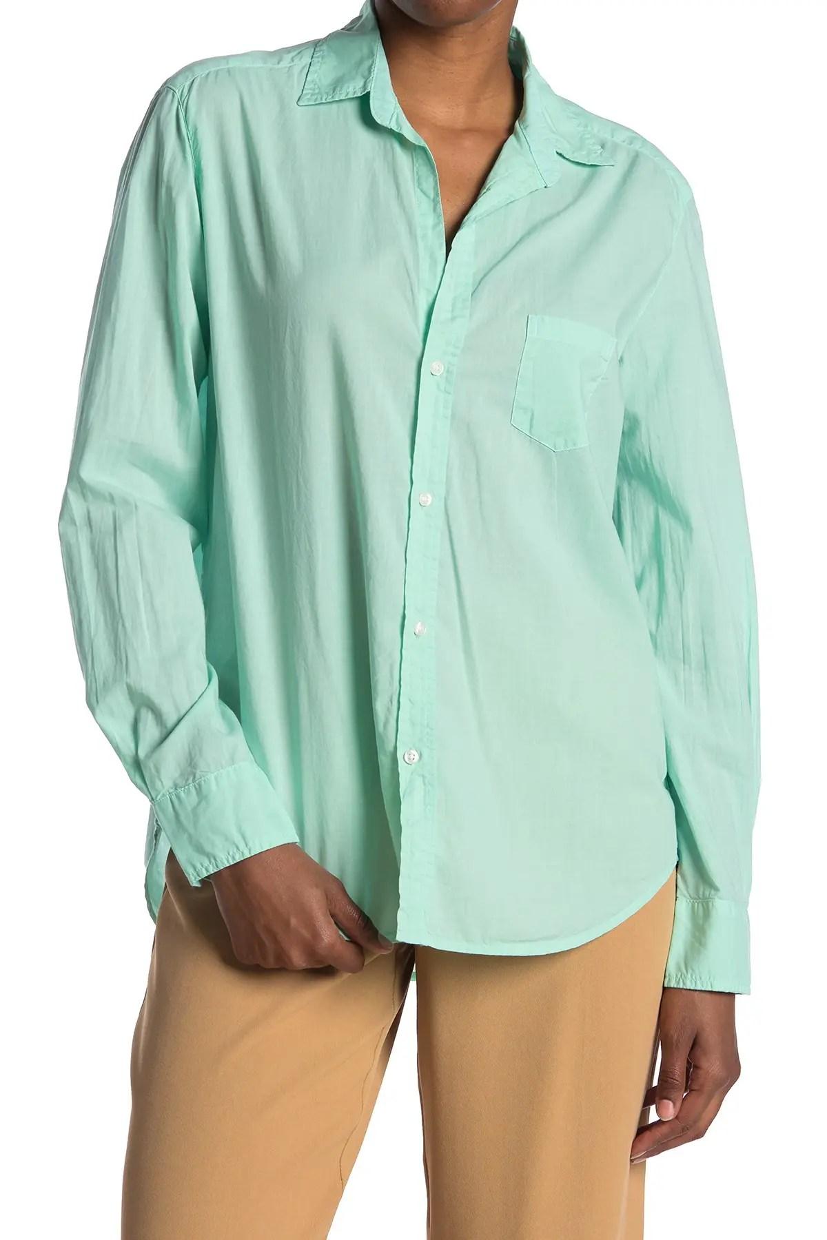 frank eileen eileen long sleeve button down shirt nordstrom rack
