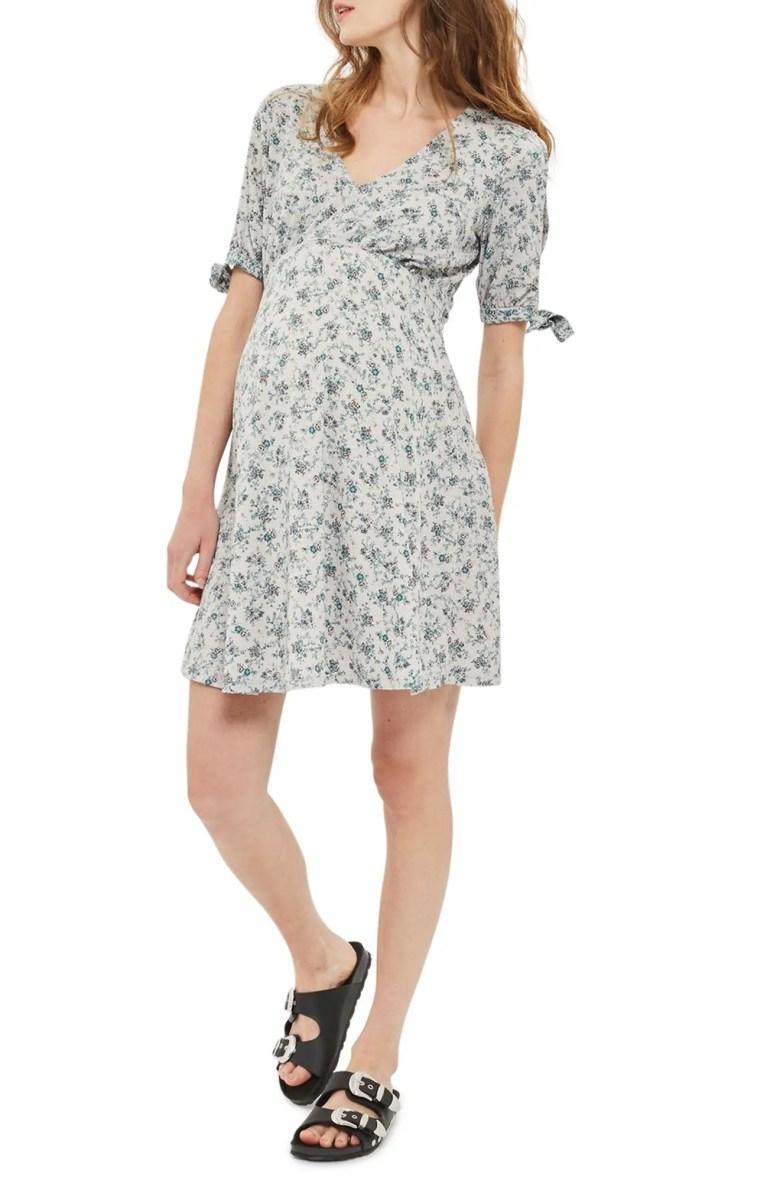 Topshop Floral Maternity Tea Dress | Nordstrom