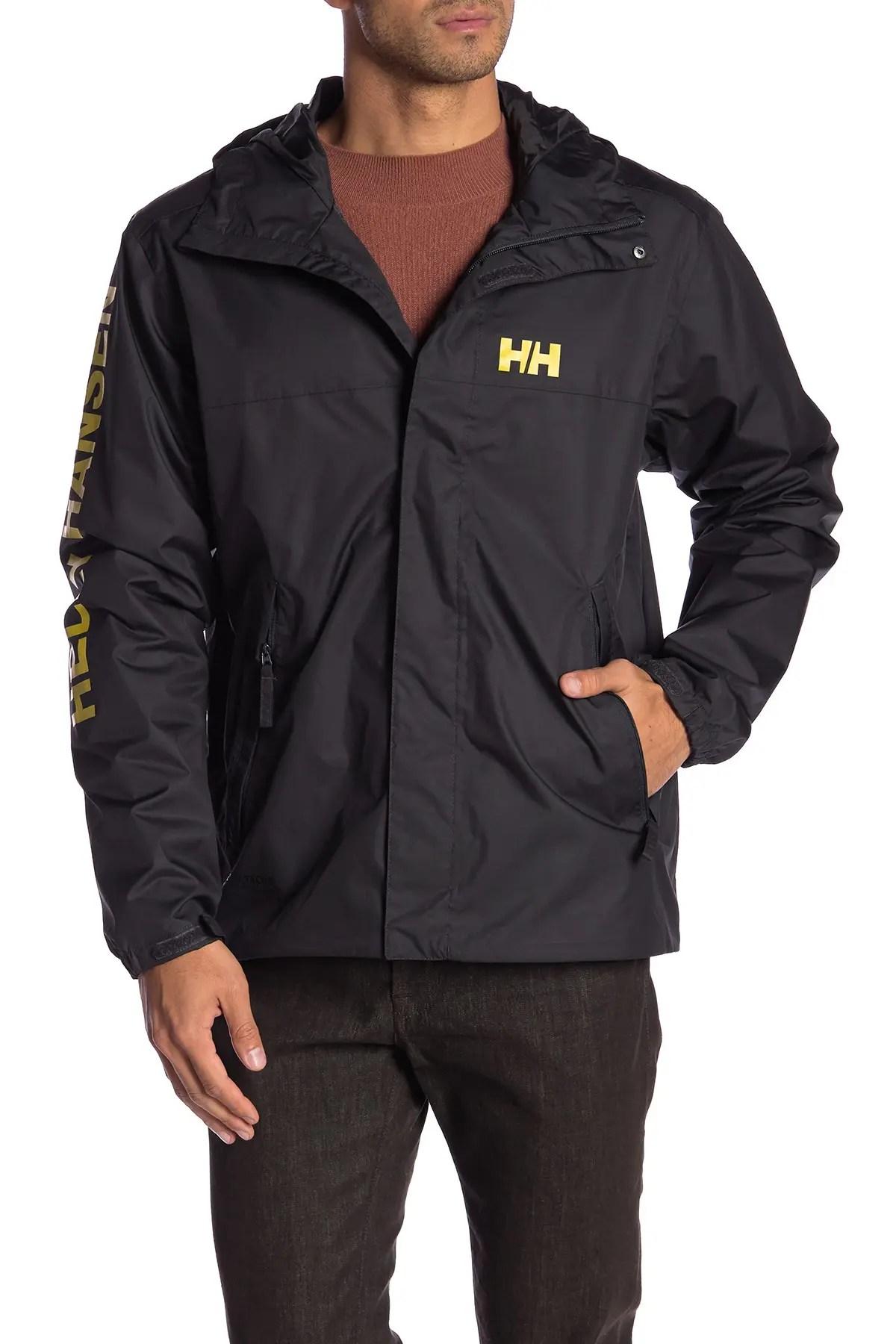 helly hansen ervik logo sleeve jacket nordstrom rack
