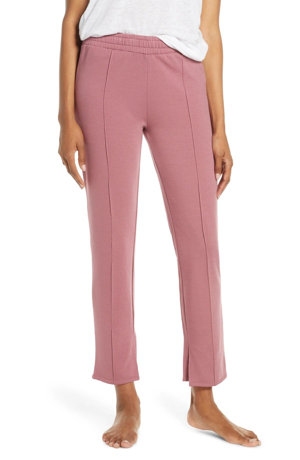JOE'S Straight Leg Sweatpants, Main, color, ROSE SNAP