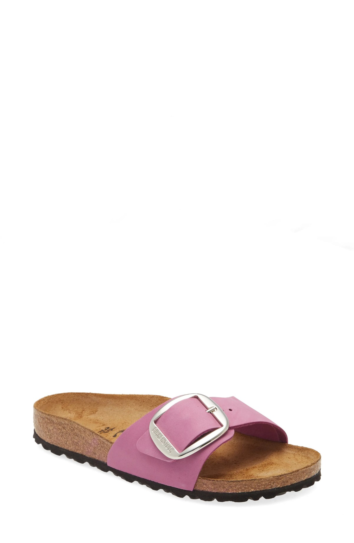 BIRKENSTOCK Madrid Hex Slide Sandal, Main, color, PURPLE ORCHID NUBUCK LEATHER
