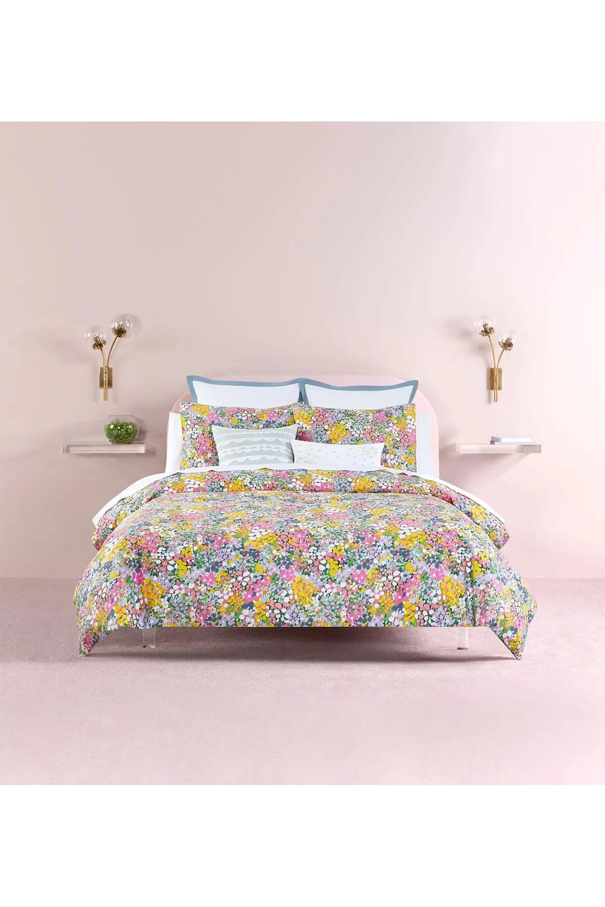 kate spade new york floral dots comforter 3 piece set king lilac nordstrom rack