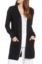 CozyChic<sup>™</sup> Lite Long Cardigan, Main, color, BLACK