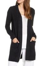 CozyChic<sup>™</sup> Lite Long Cardigan, Main, color, BLACK