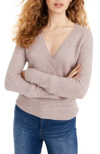 Faux Wrap Pullover Sweater, Main, color, HEATHER BOYSENBERRY