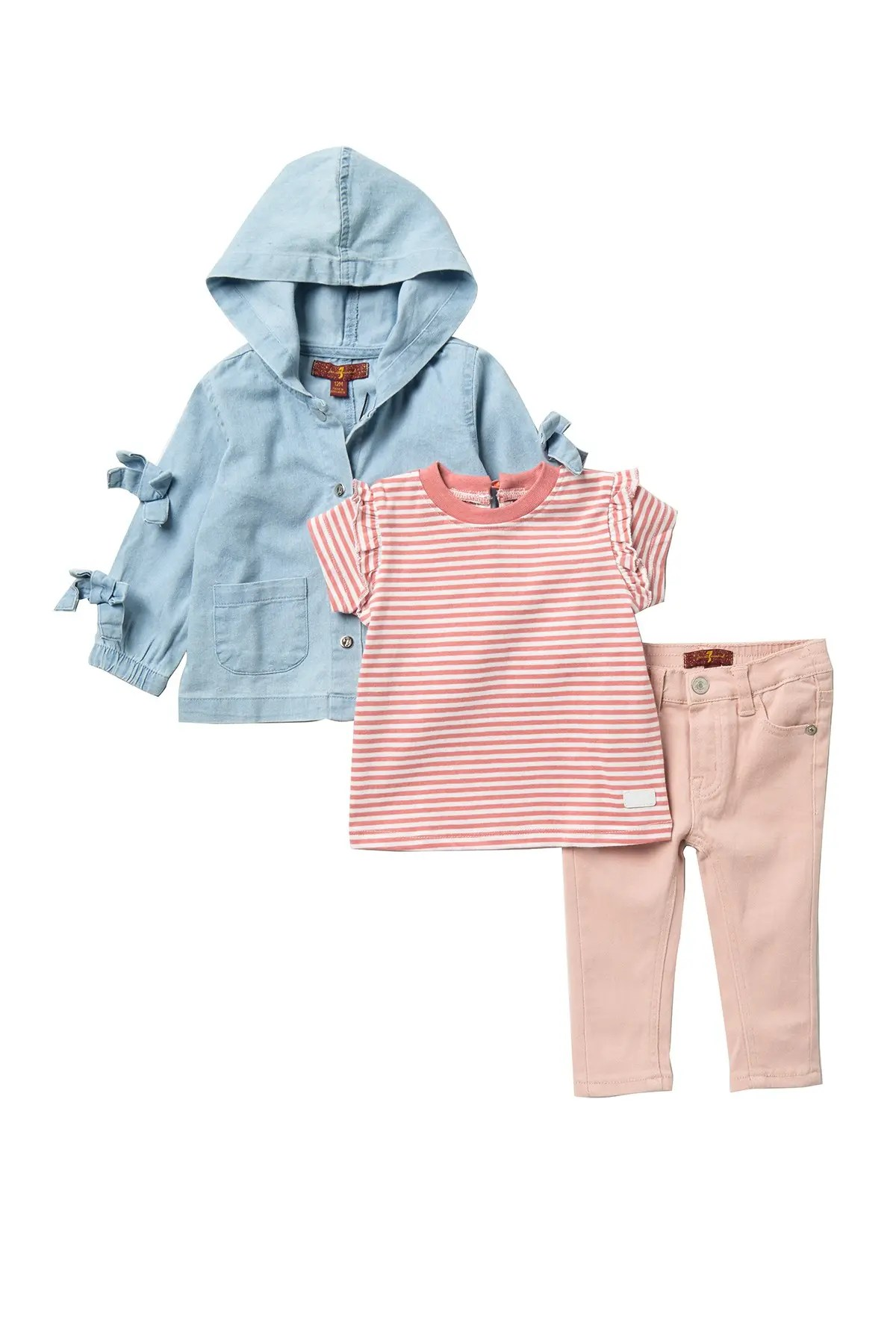 7 for all mankind chambray jacket top pants set nordstrom rack