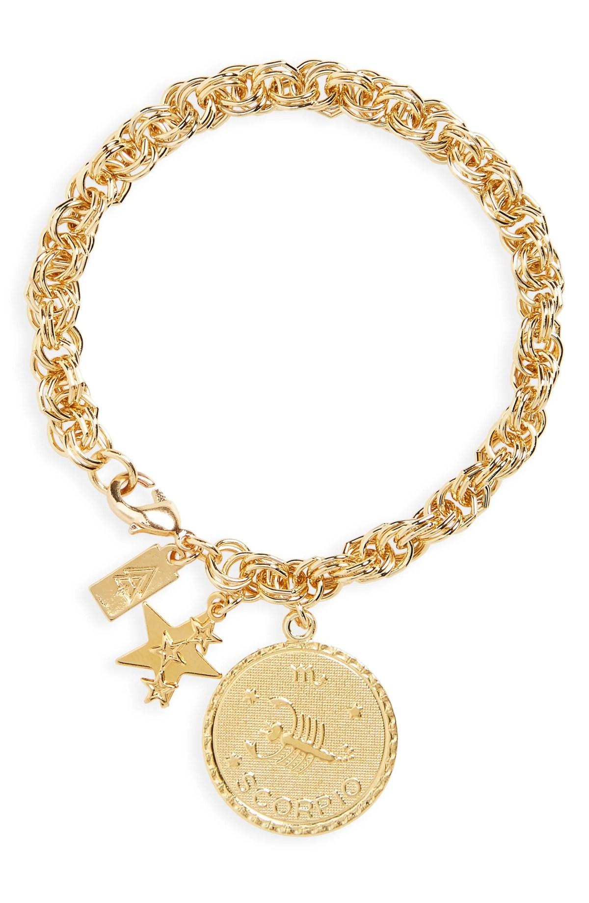 CAM Euphoria Ascending Zodiac Bracelet, Main, color, SCORPIO