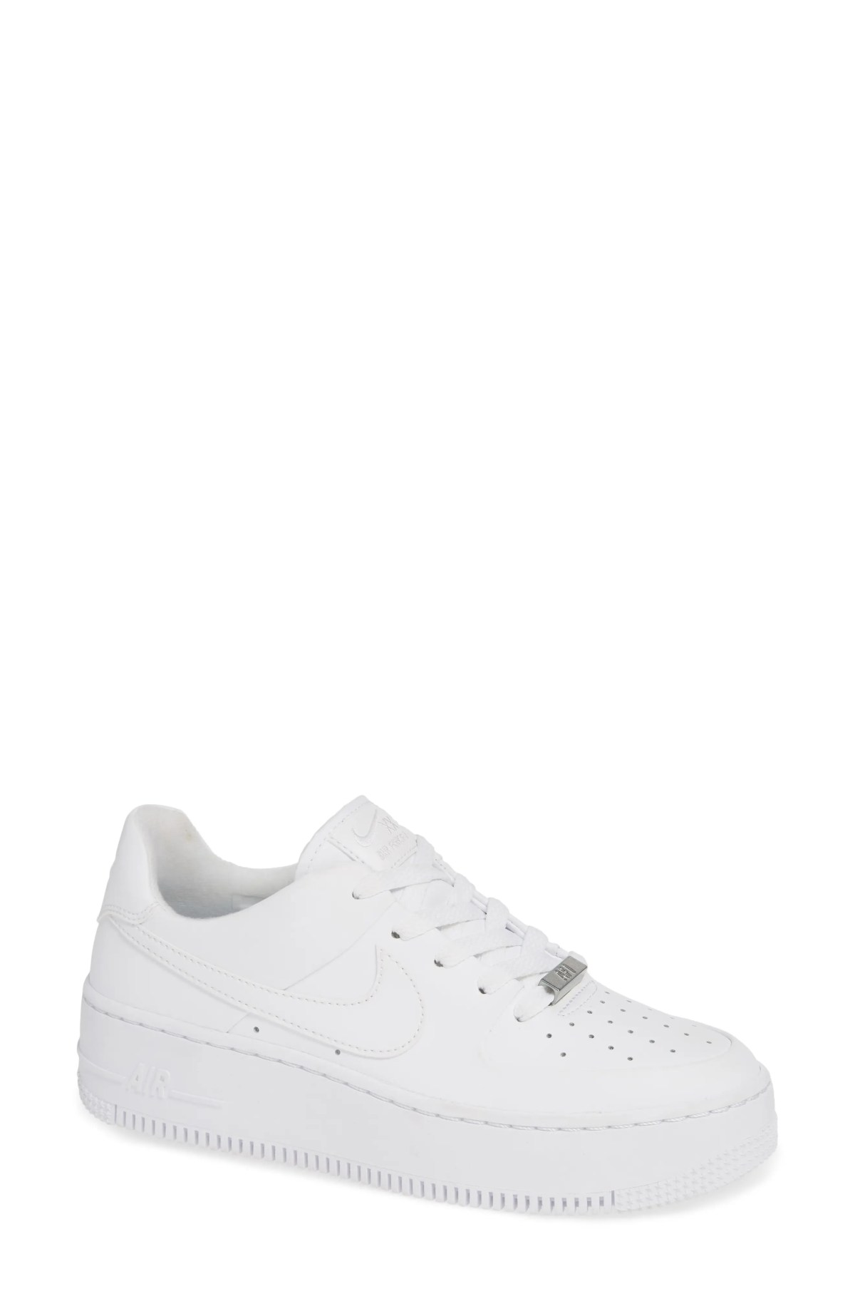 NIKE Air Force 1 Sage Low Platform Sneaker, Main, color, WHITE/ WHITE/ WHITE