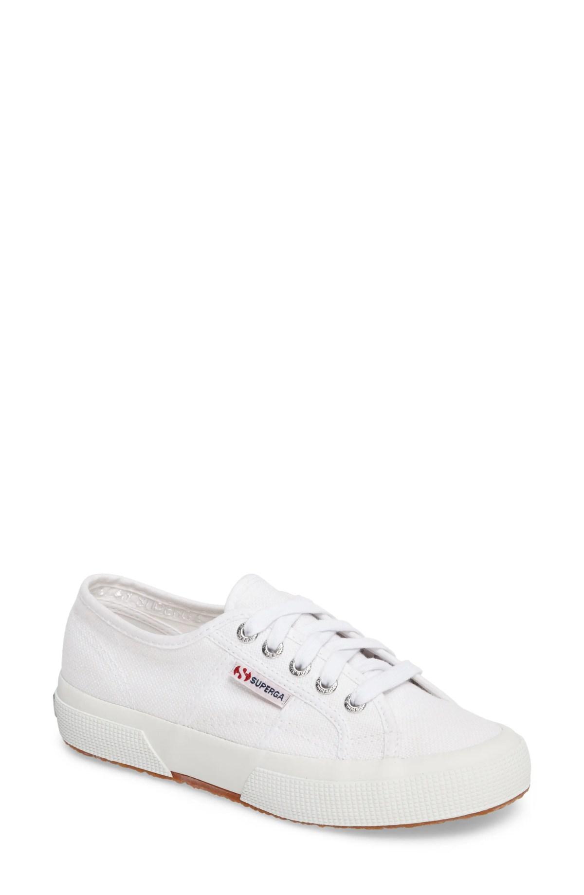 SUPERGA 'Cotu' Sneaker, Main, color, WHITE CANVAS