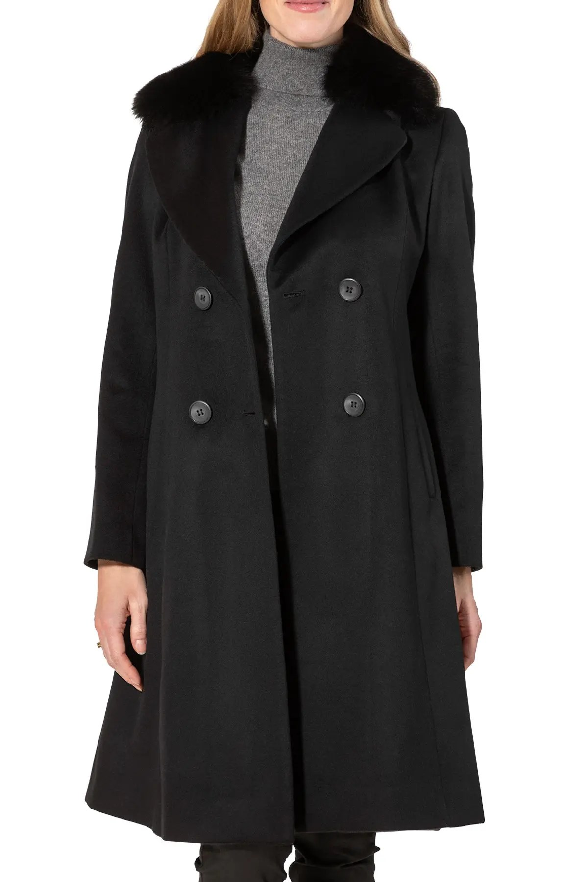 sofia cashmere double breasted genuine fox fur coat nordstrom rack