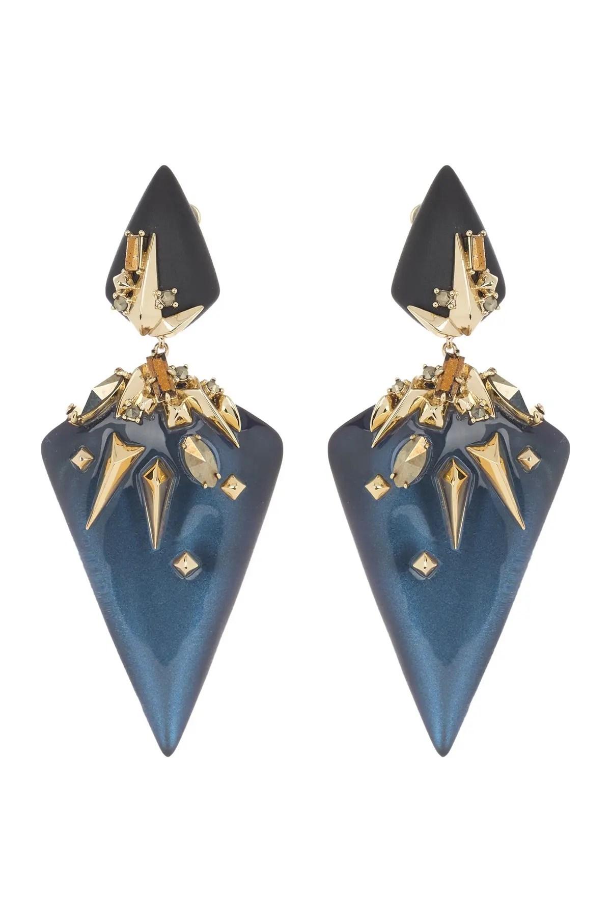 alexis bittar 10k gold accent geometric clip on drop earrings nordstrom rack