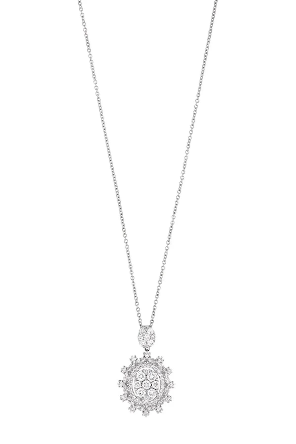 bony levy audrey 18k white gold pave diamond oval pendant necklace nordstrom rack