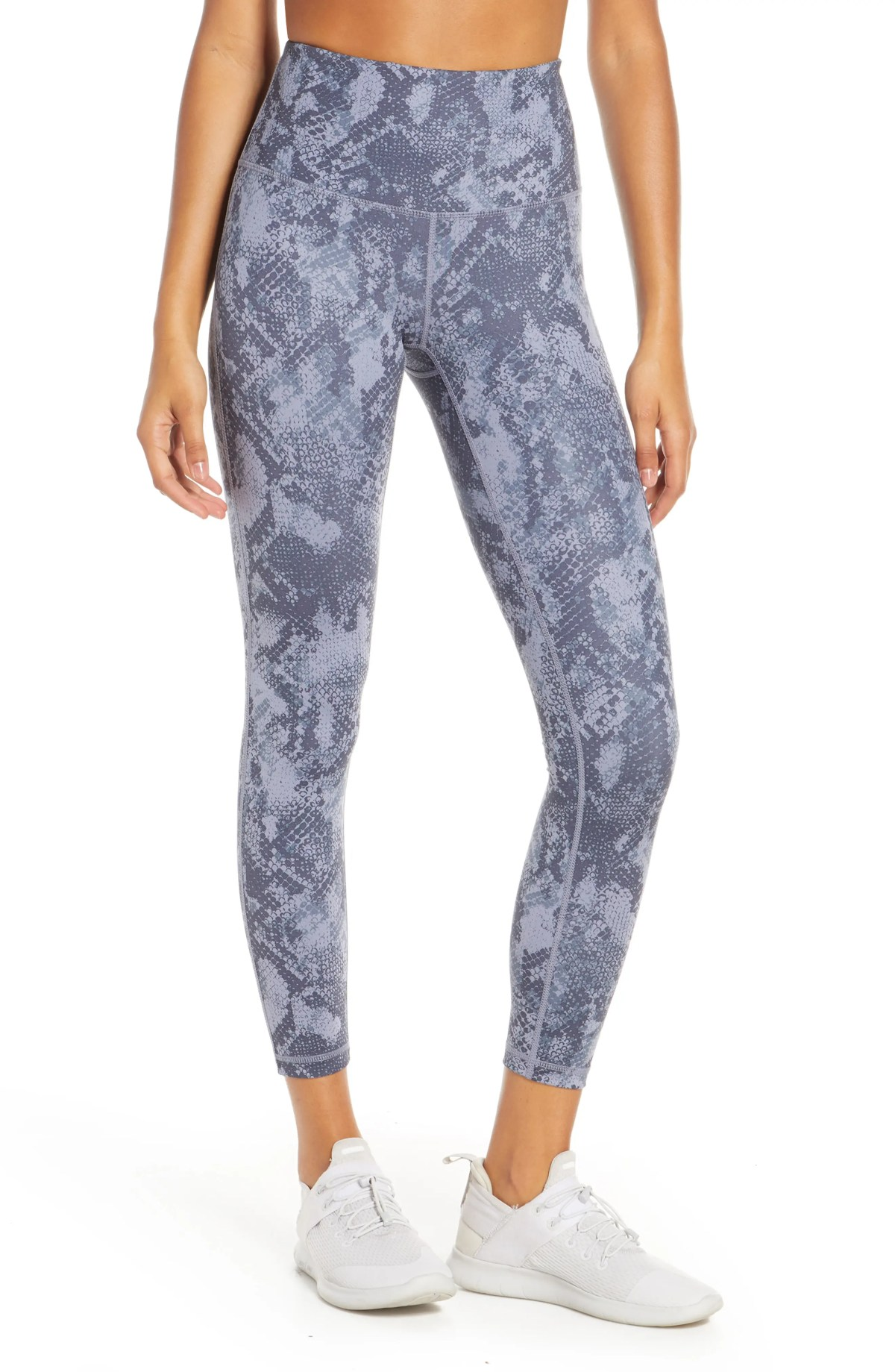 ZELLA Studio Lite High Waist 7/8 Leggings, Main, color, BLUE GRANITE EDEN PRINT