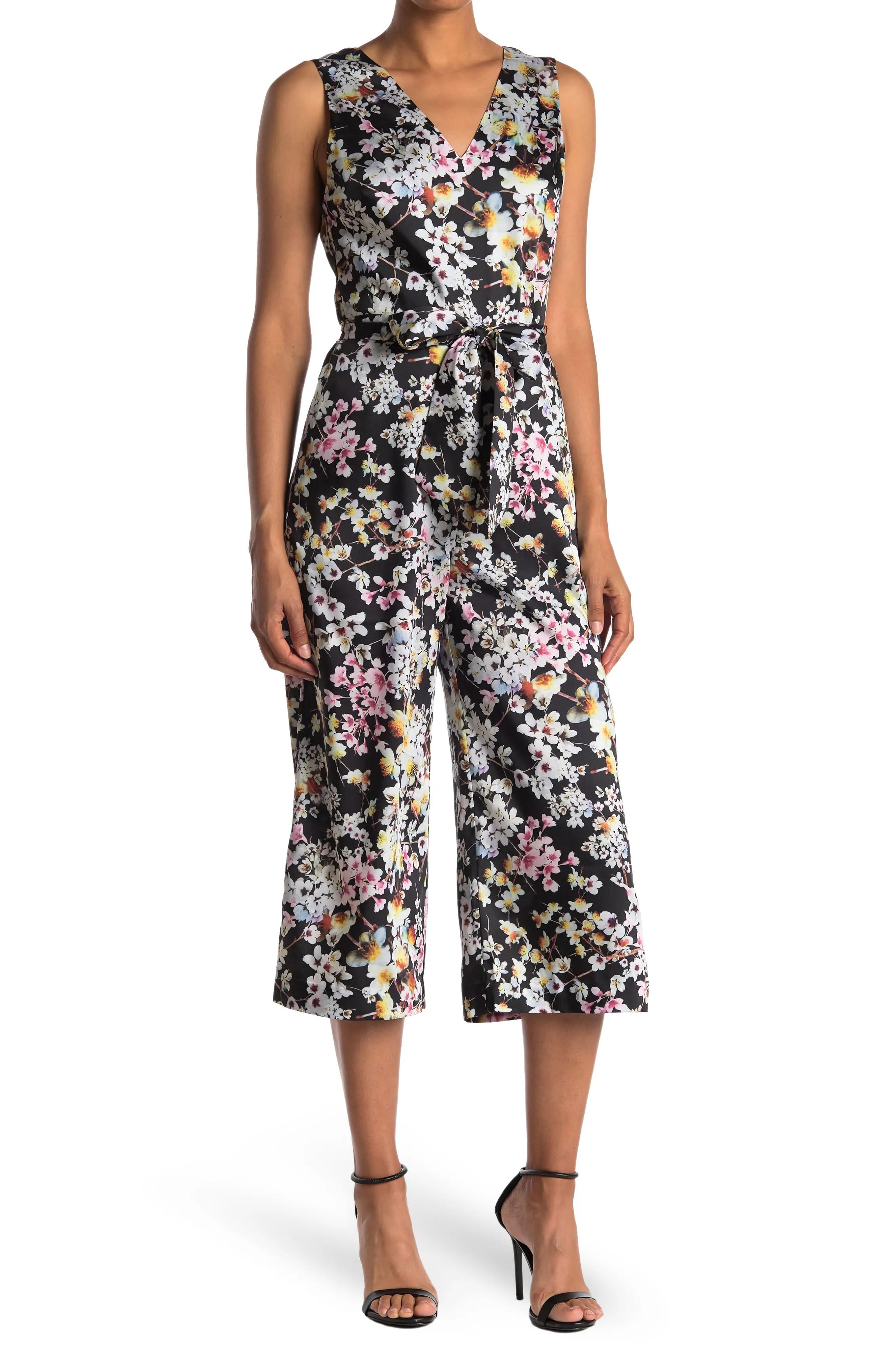 ted baker london benhi jasmine floral sleeveless wide leg jumpsuit nordstrom rack