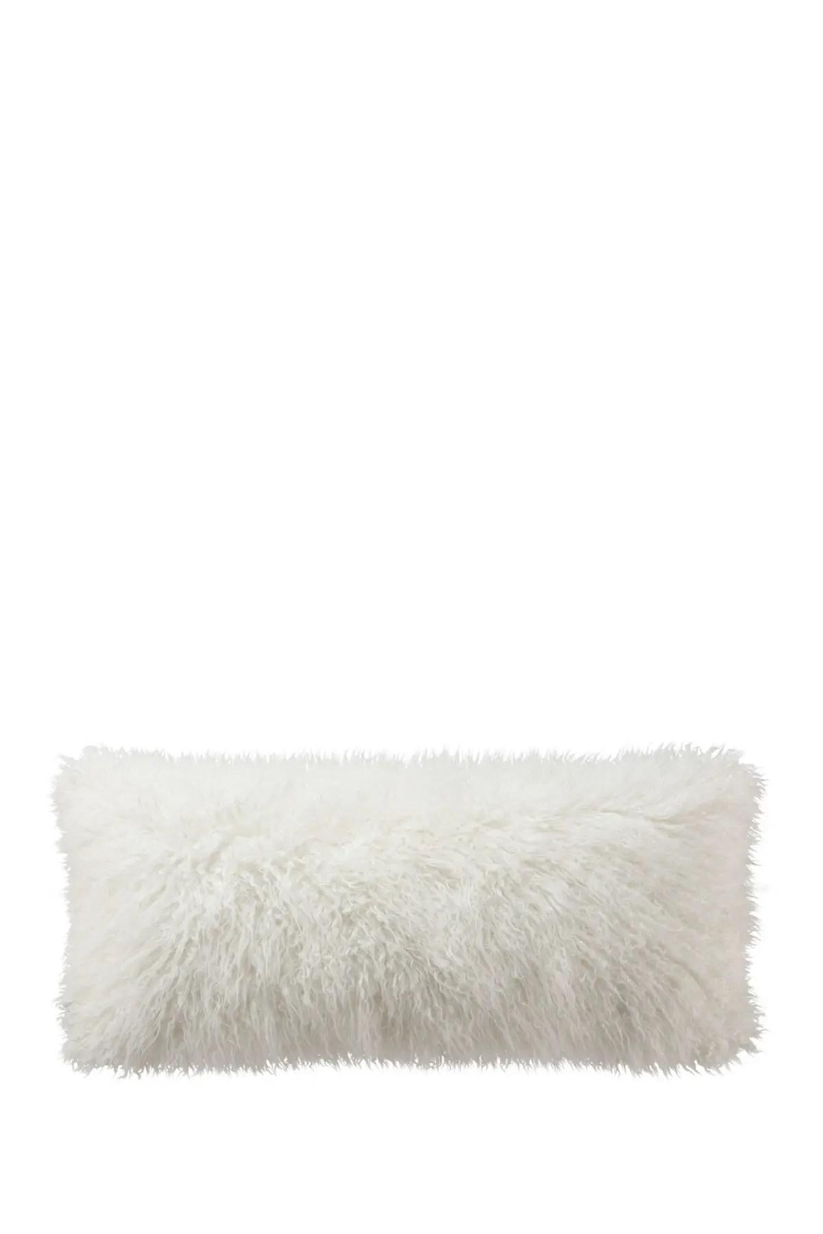 ugg natural flokati bolster pillow