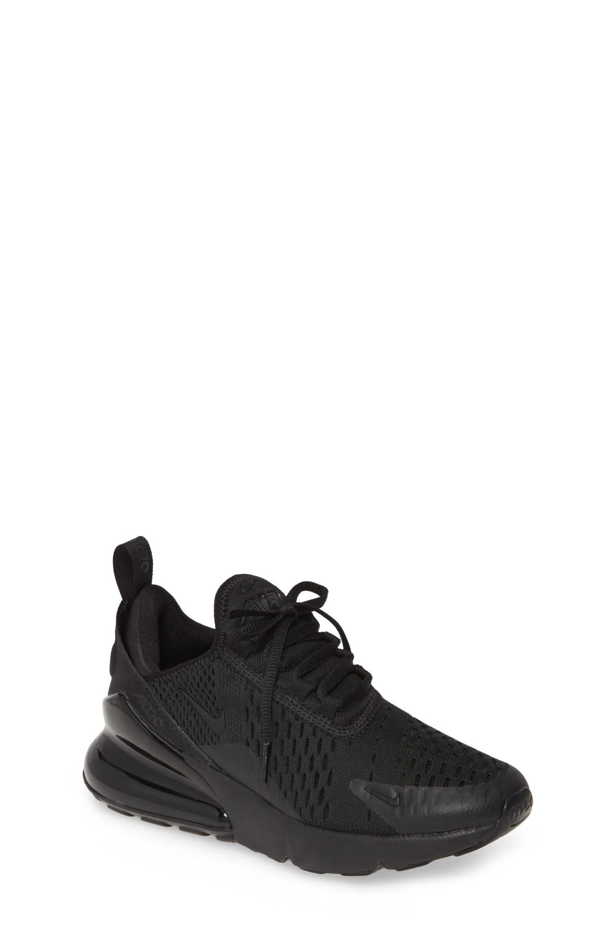 NIKE Air Max 270 BG Sneaker, Main, color, BLACK/ BLACK