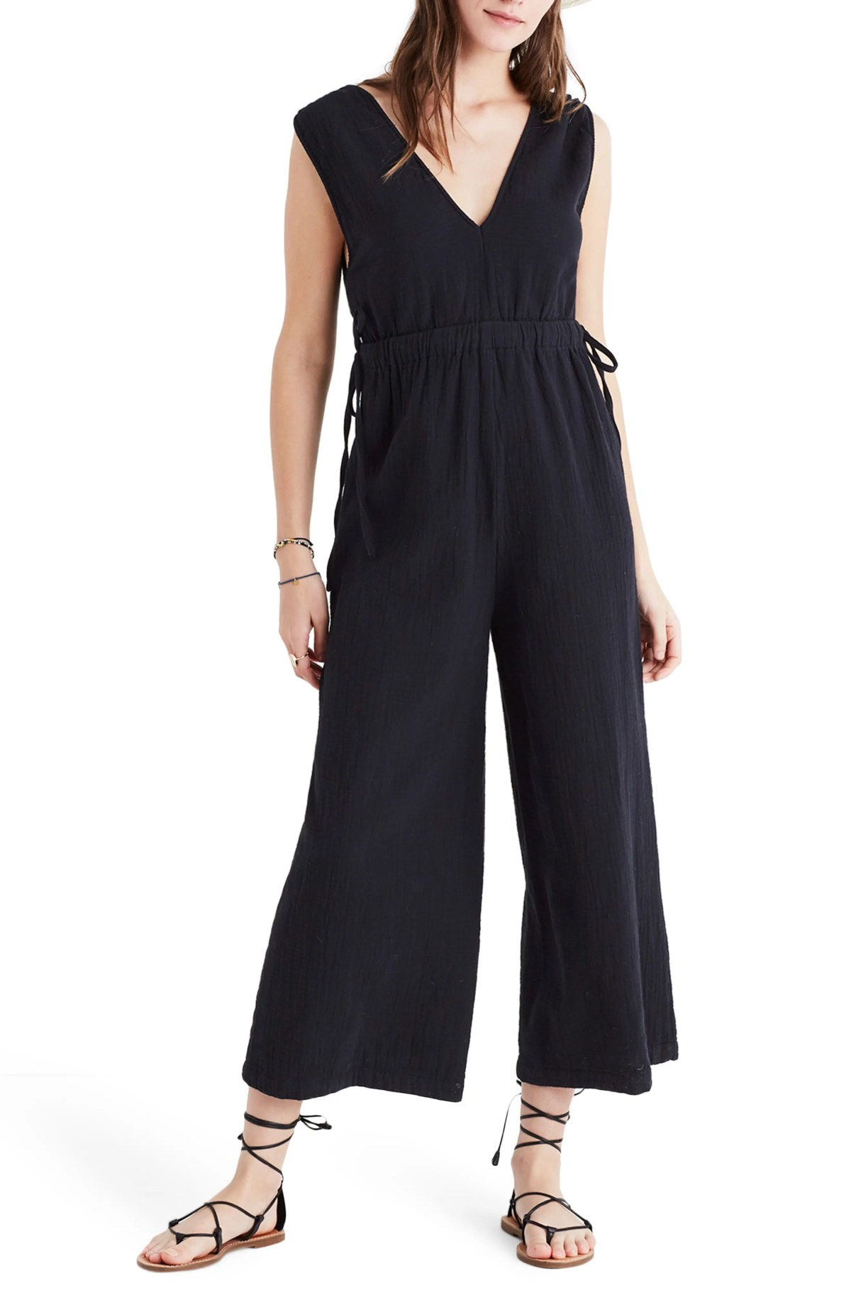 Waikiki Cover-Up Jumpsuit, Main, color, TRUE BLACK
