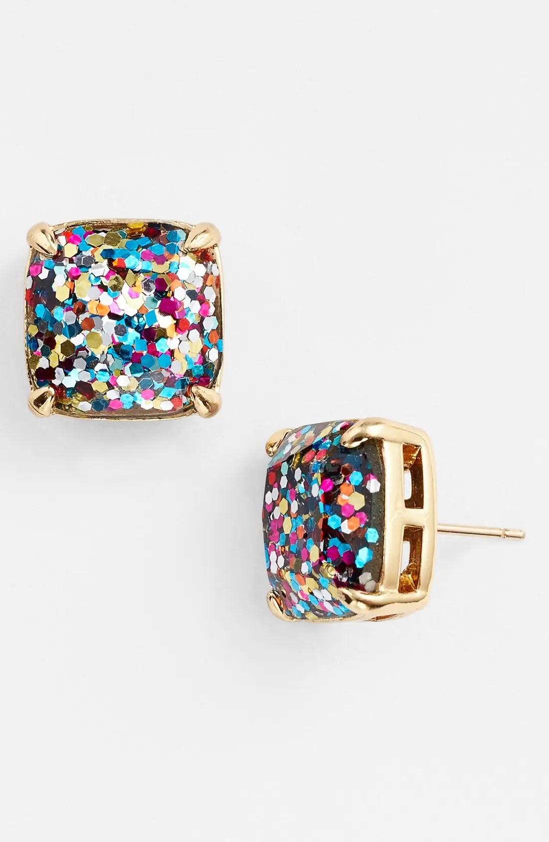 glitter stud earrings, Main, color, MULTI GLITTER
