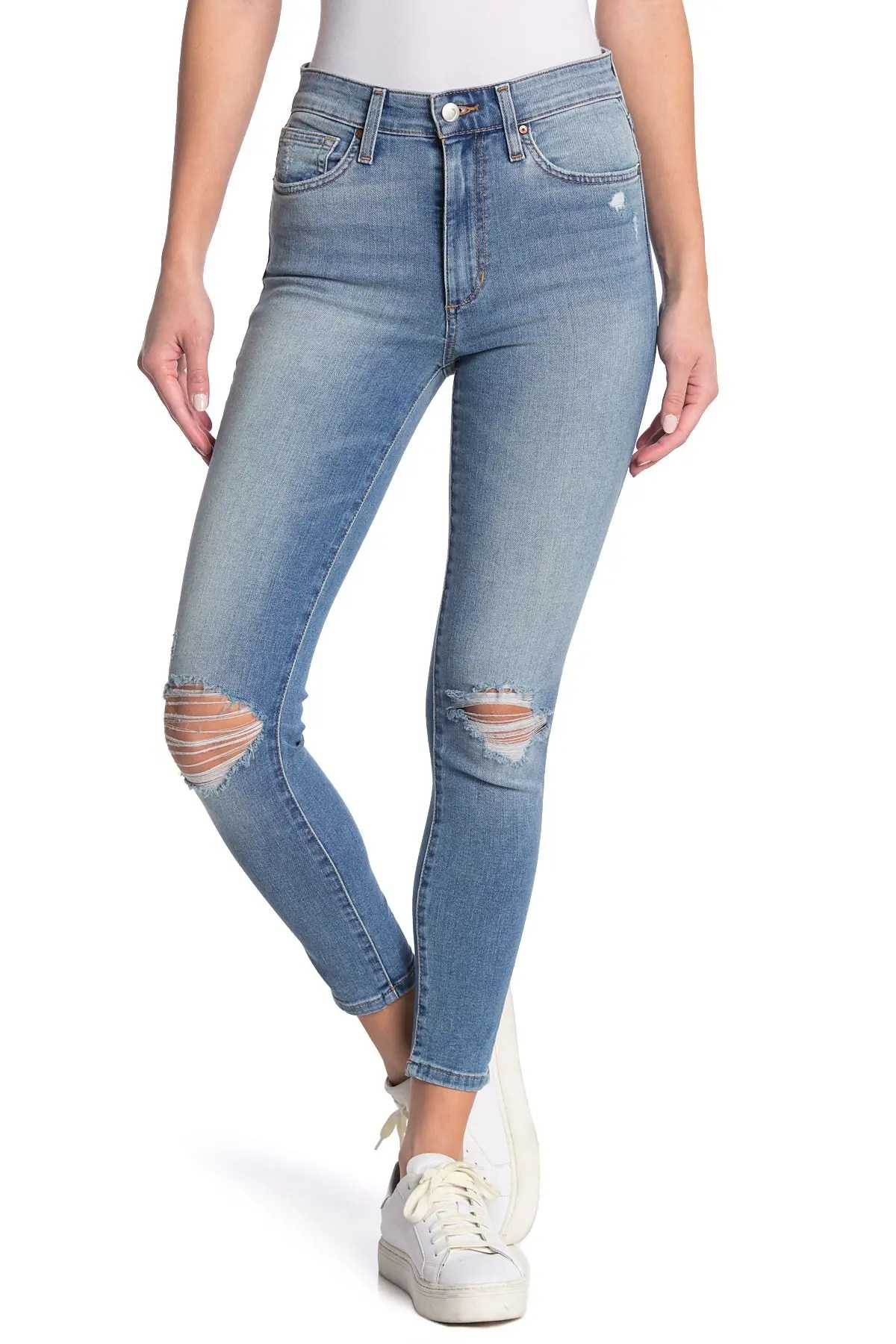 joe s jeans distressed high rise ankle skinny jeans nordstrom rack