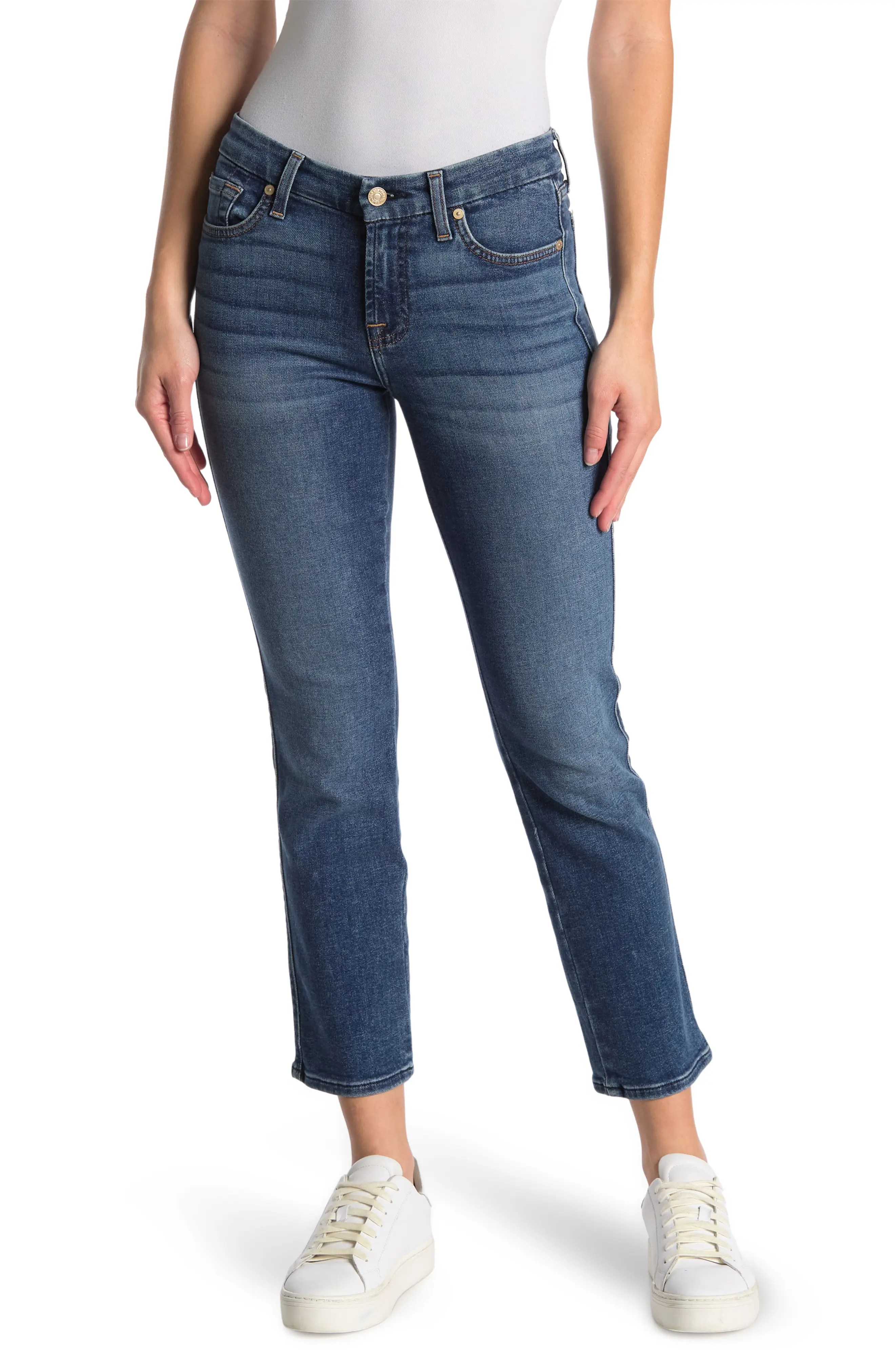 7 for all mankind kimmie mid rise ankle crop skinny jeans nordstrom rack
