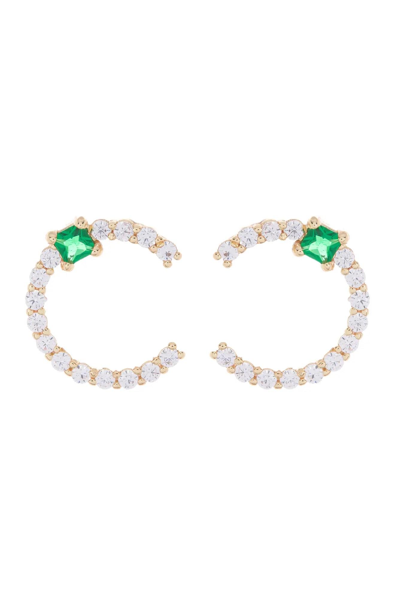 nordstrom rack pave cz emerald round stud earrings nordstrom rack