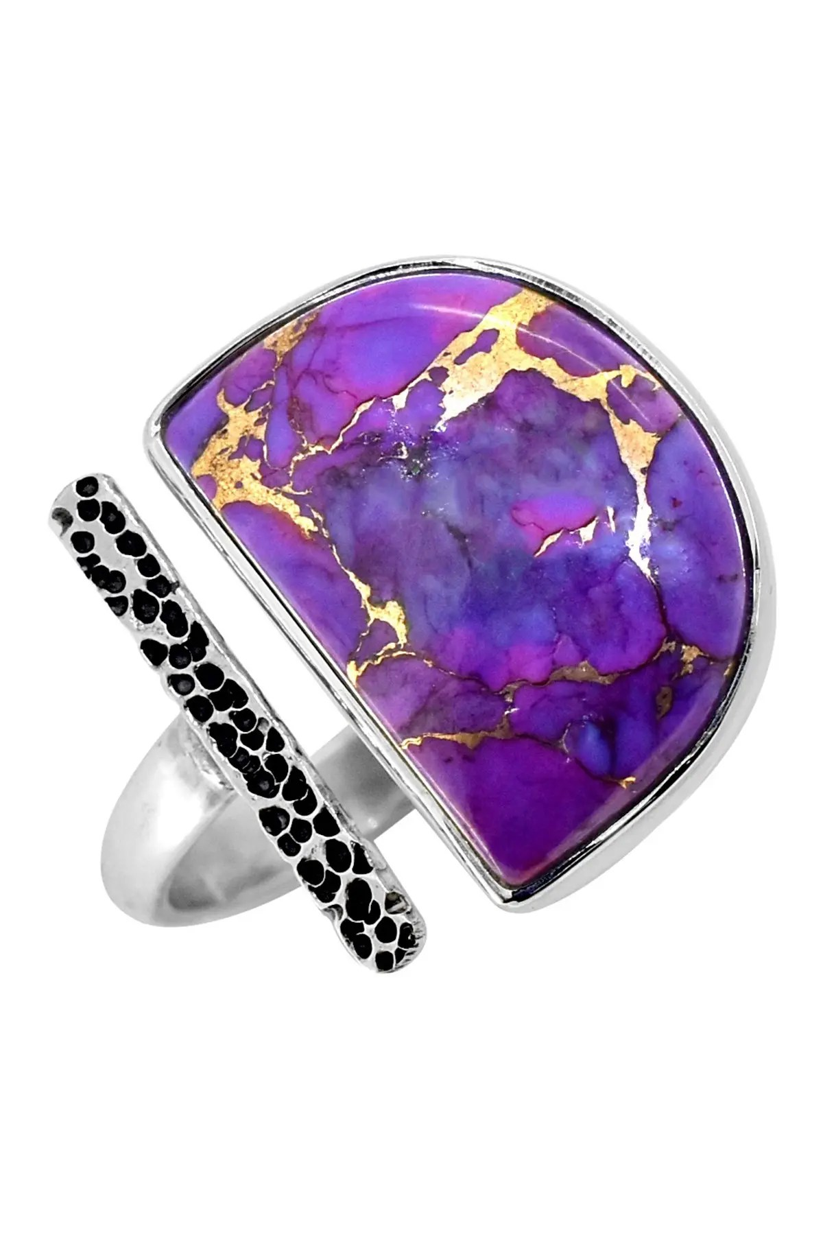 Amazon.com: Purple Copper Turquoise Ring 925 Sterling