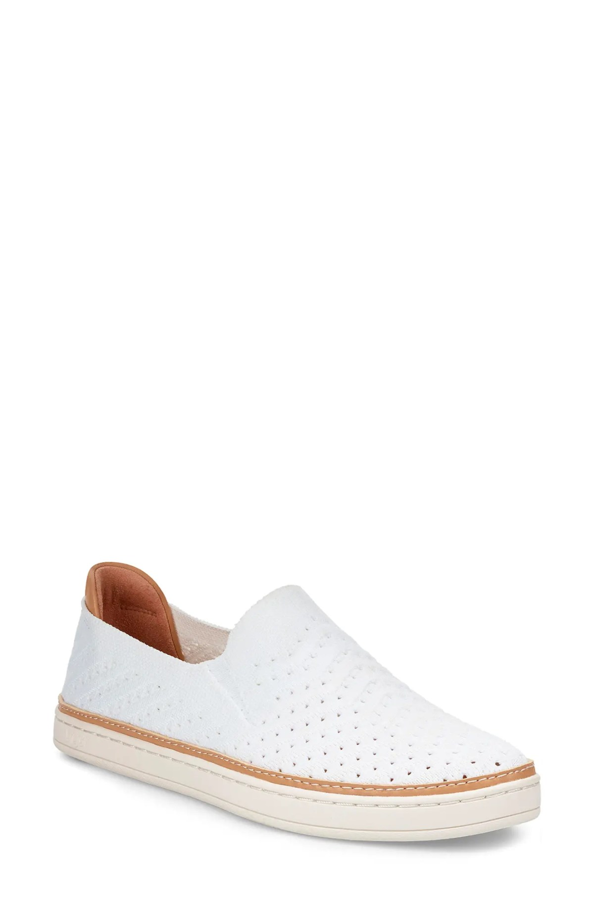 UGG<SUP>®</SUP> Sammy Slip-On Sneaker, Main, color, WHITE SUEDE
