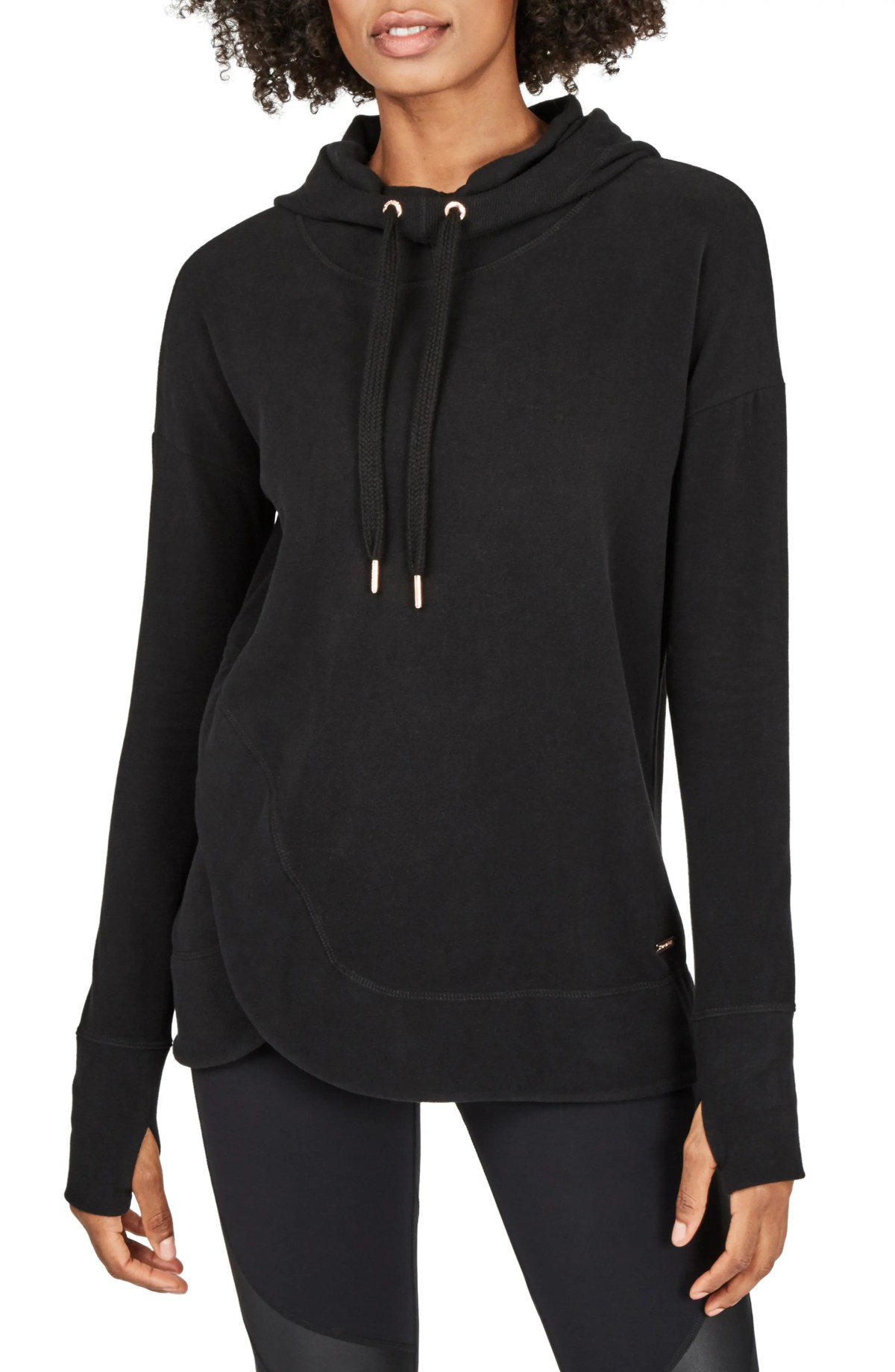 SWEATY BETTY Escape Luxe Hoodie, Main, color, BLACK
