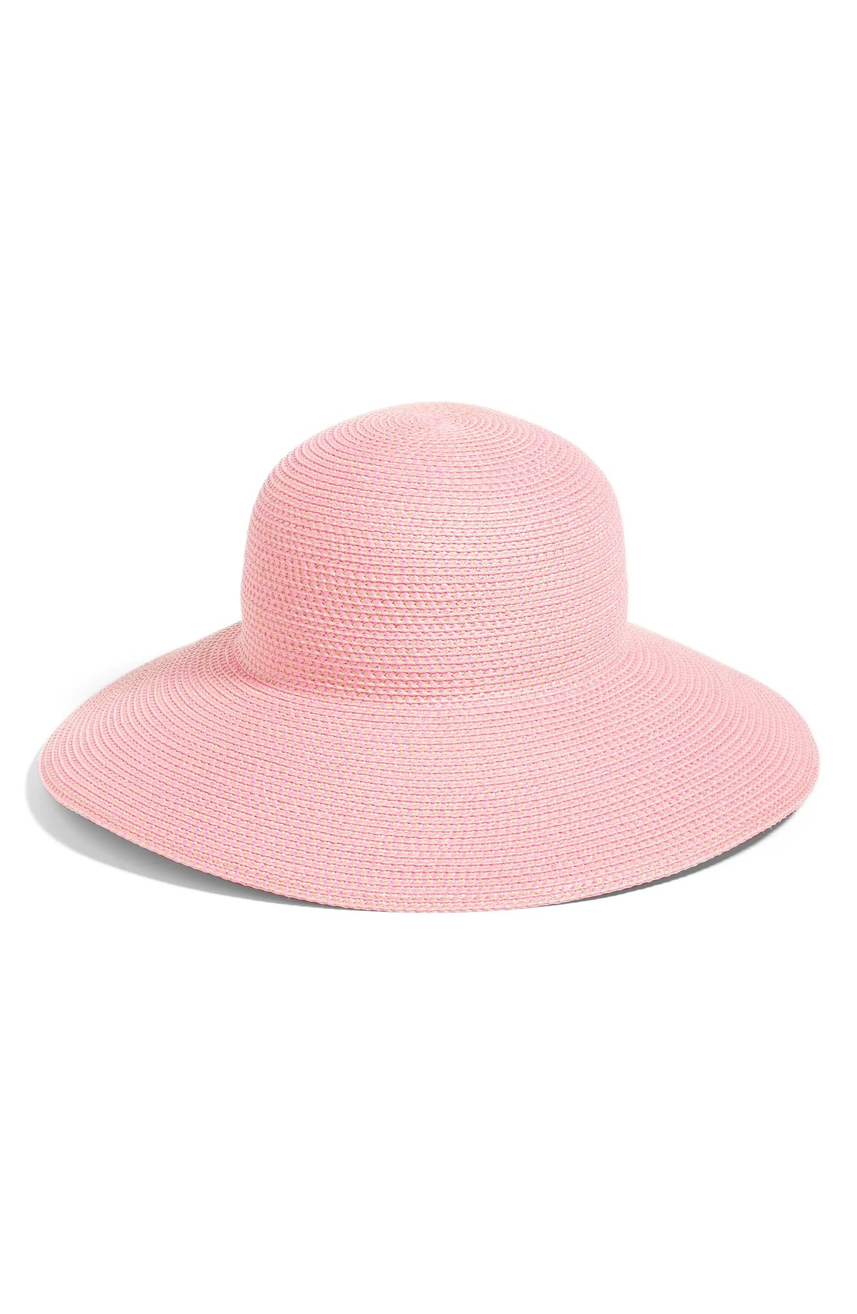 'Hampton' Straw Sun Hat, Main, color, POP PINK