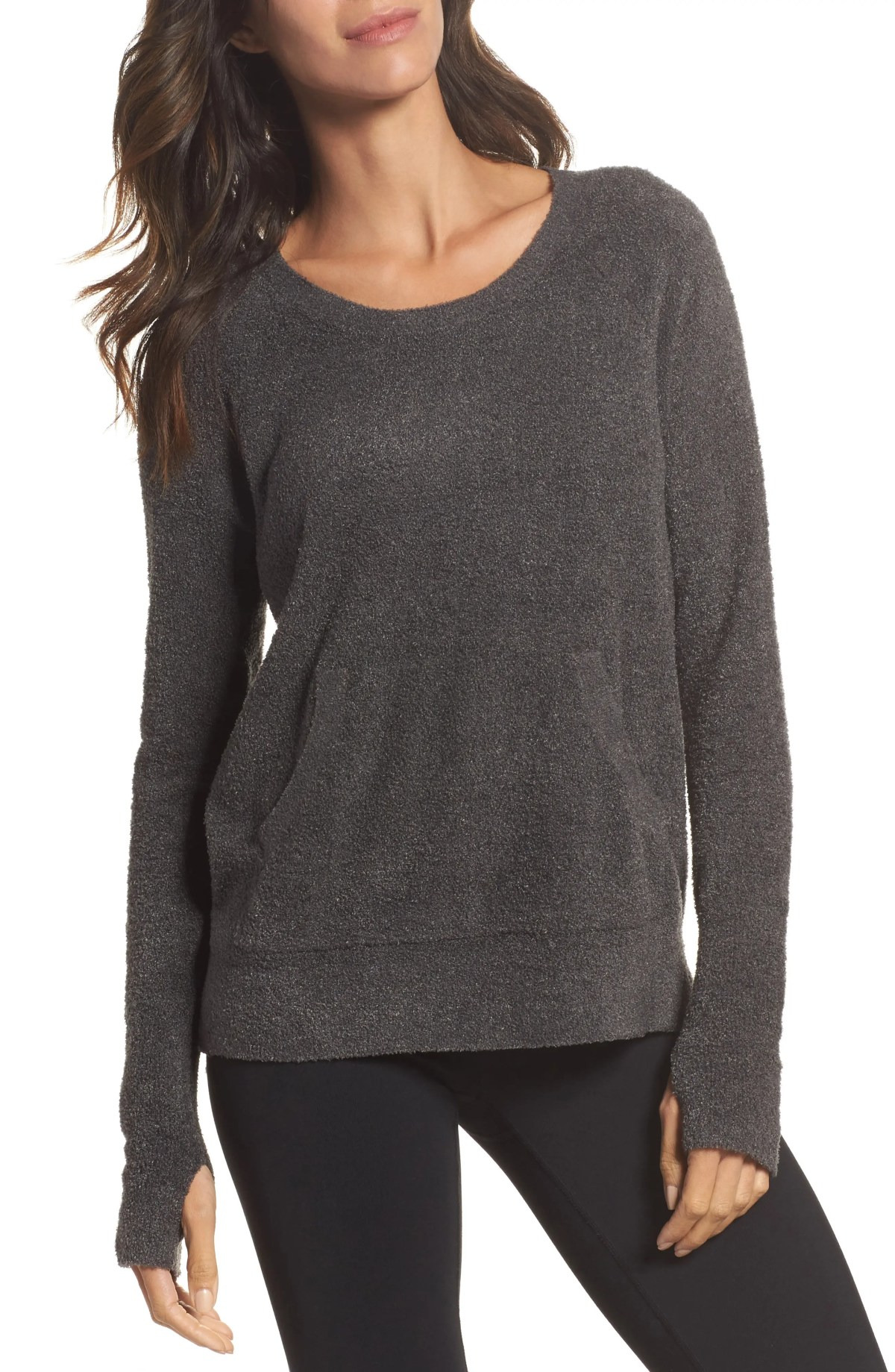 BAREFOOT DREAMS<SUP>®</SUP> Cozychic Lite<sup>®</sup> Pullover, Main, color, CARBON