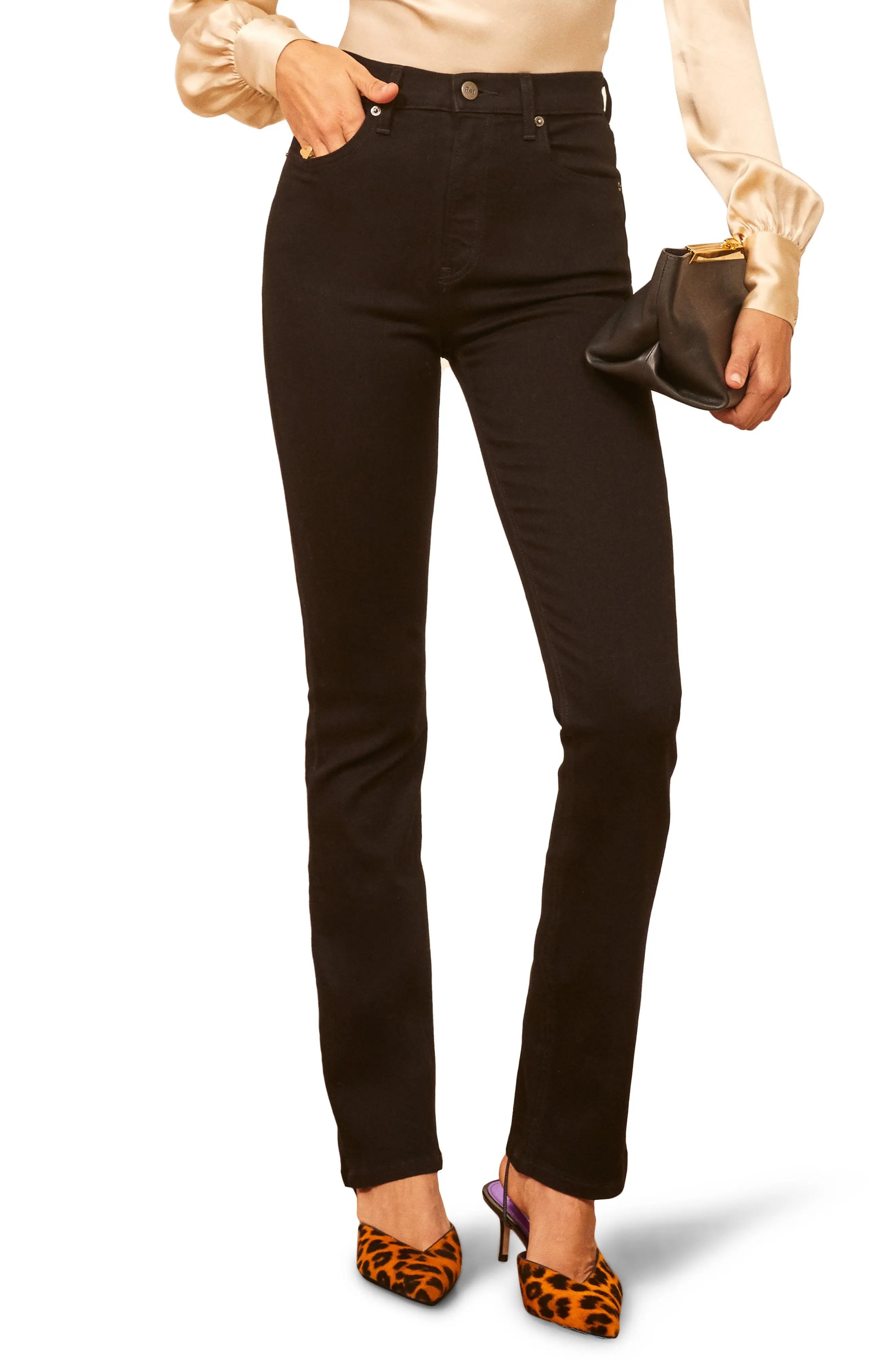 audrey high waist straight leg jeans