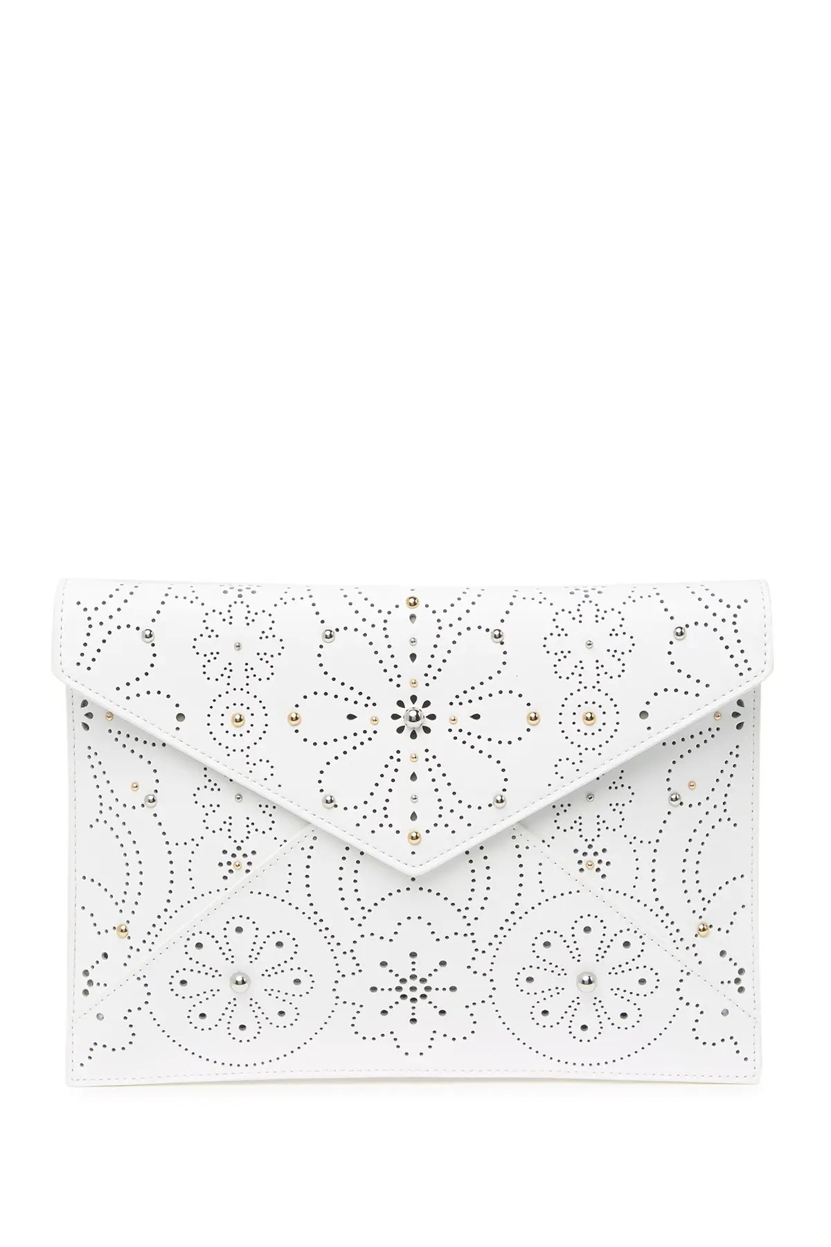 rebecca minkoff perforated leather leo clutch nordstrom rack