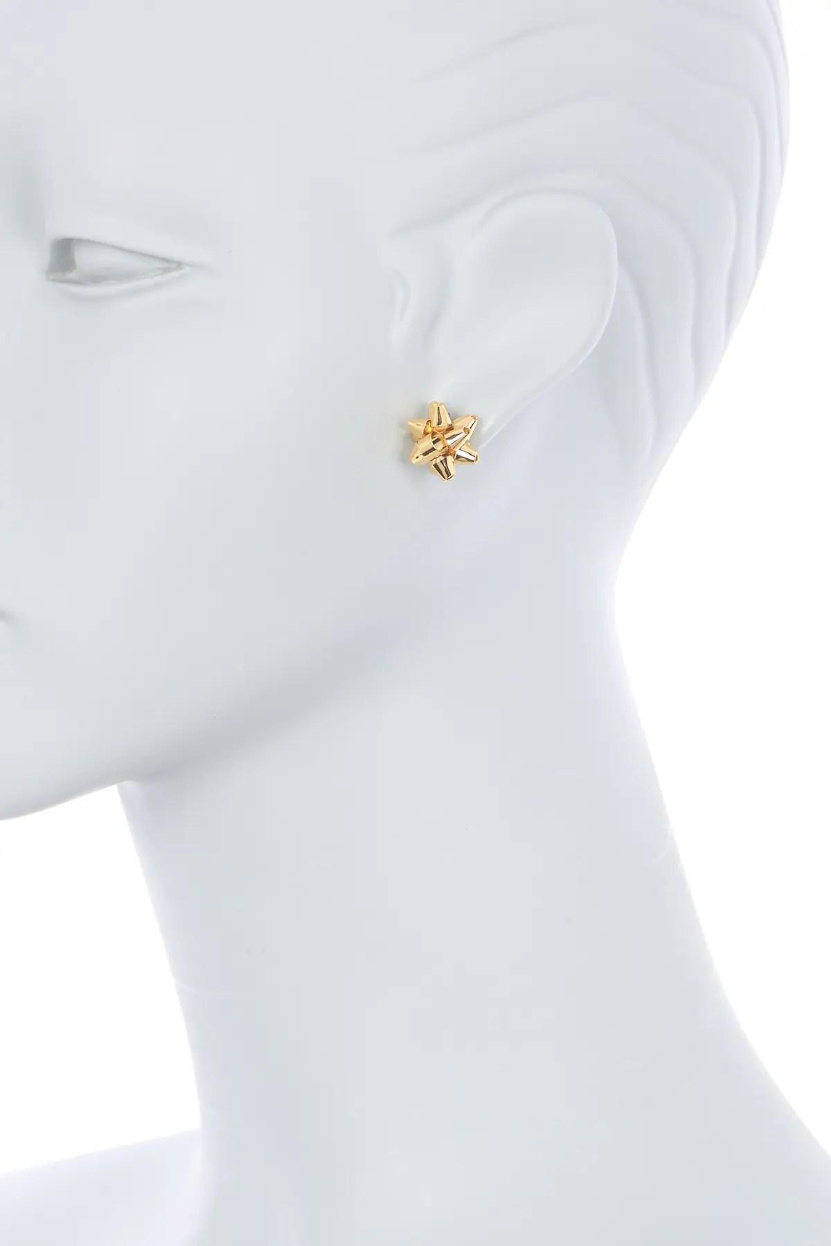 kate spade new york bourgeois bow 14k gold plated stud earrings nordstrom rack