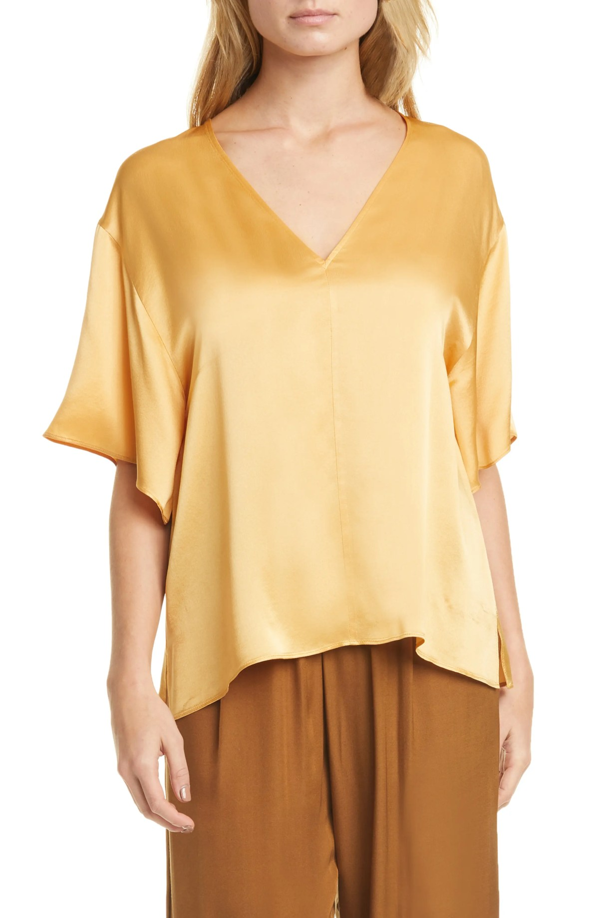 Image of Vince V-Neck Blouse