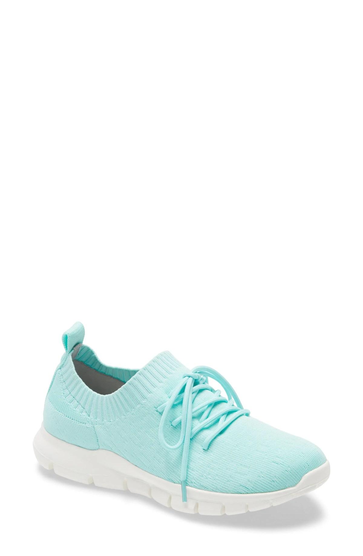 BERNIE MEV. Bernie Mev Plush Sneaker, Main, color, AQUA FABRIC