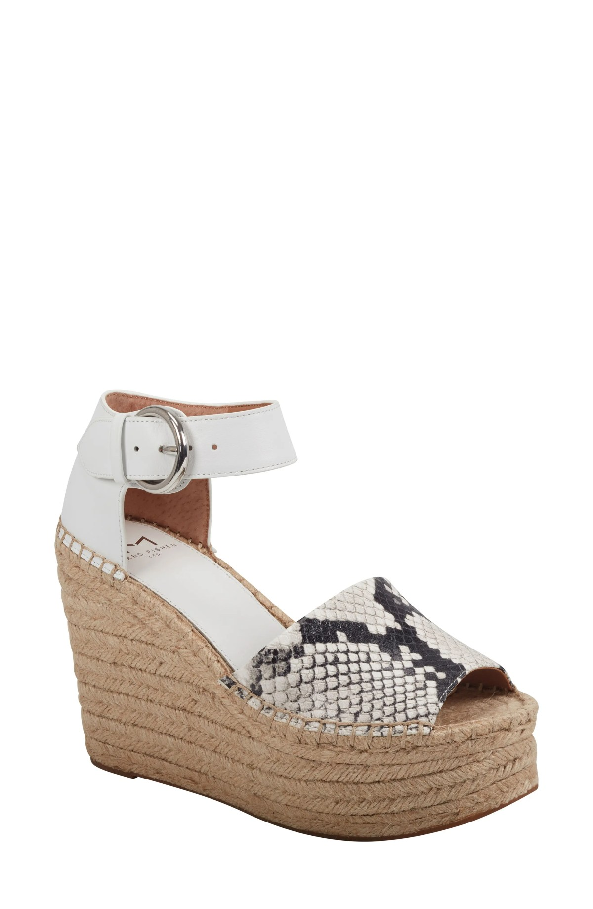 MARC FISHER LTD Alida Espadrille Platform Wedge, Main, color, SNAKE PRINT LEATHER