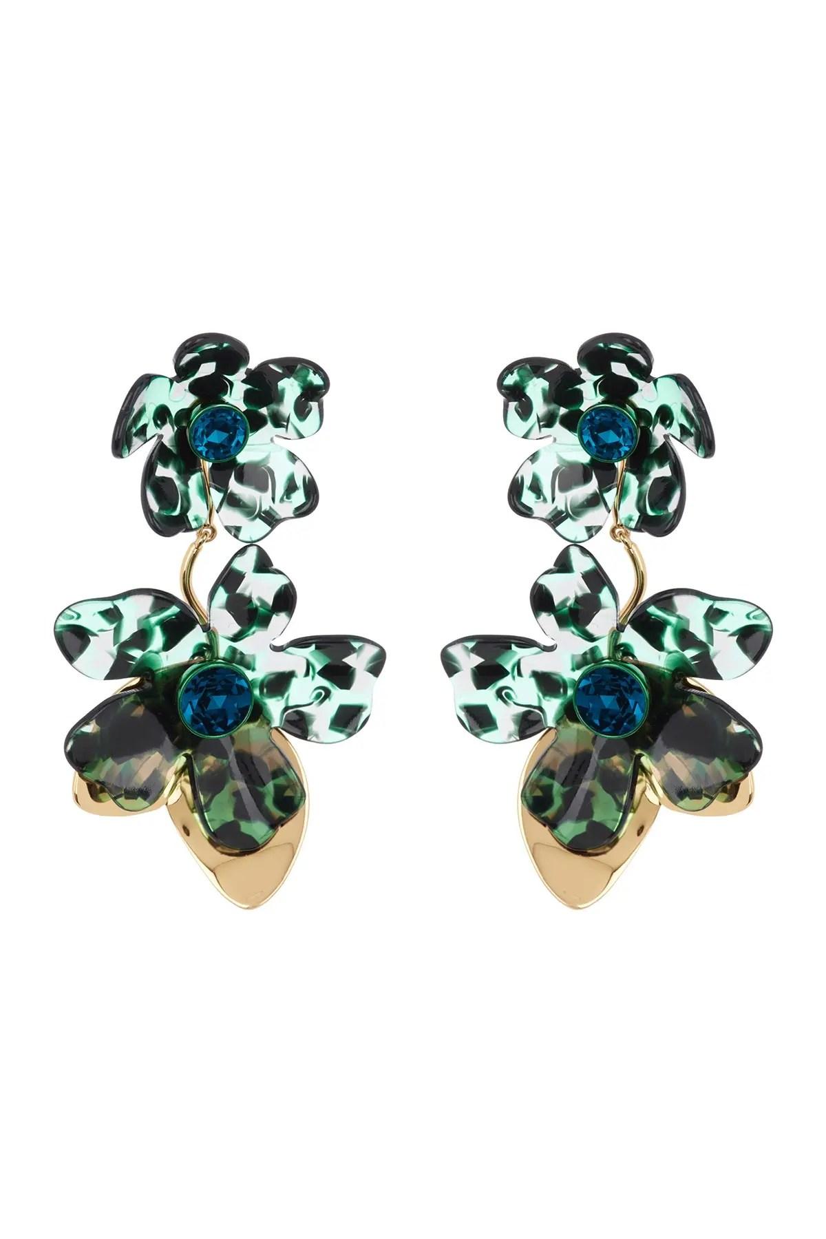 kate spade new york petal pushers cz statement earrings nordstrom rack