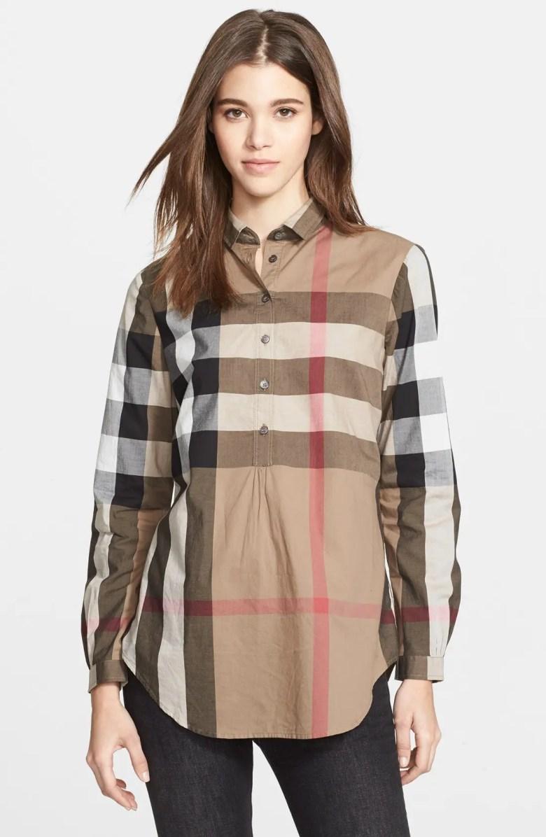 Burberry Brit Check Tunic Shirt | Nordstrom